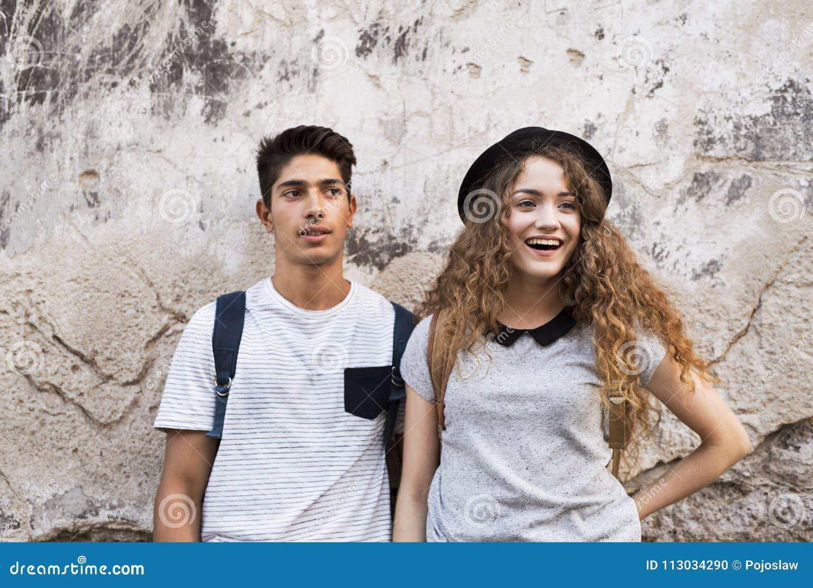 Dois turistas novos na cidade velha