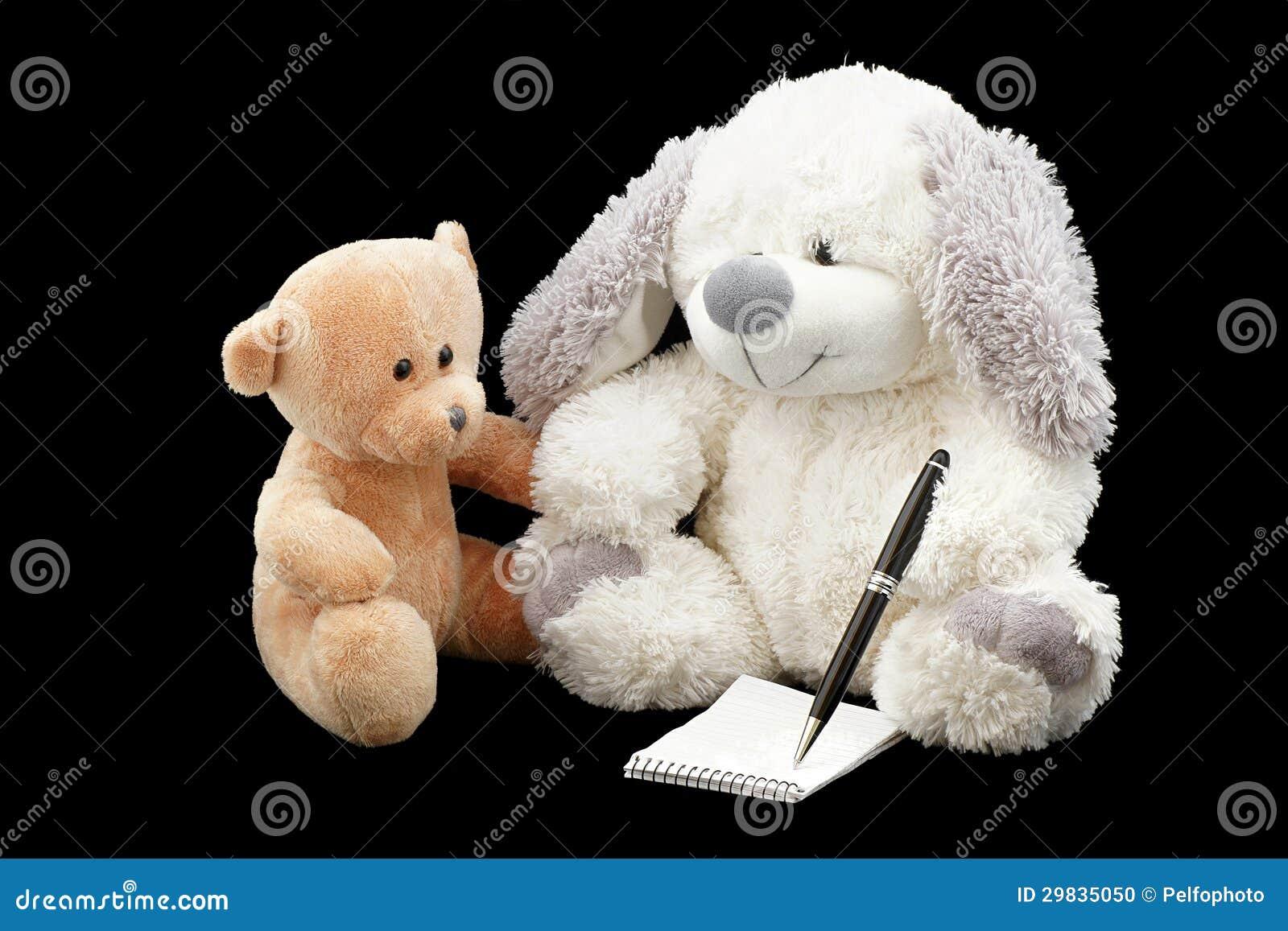 Escreva a ursos de peluche a mensagem.