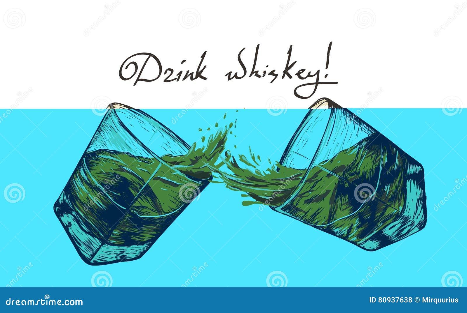 Dois vidros com uísque