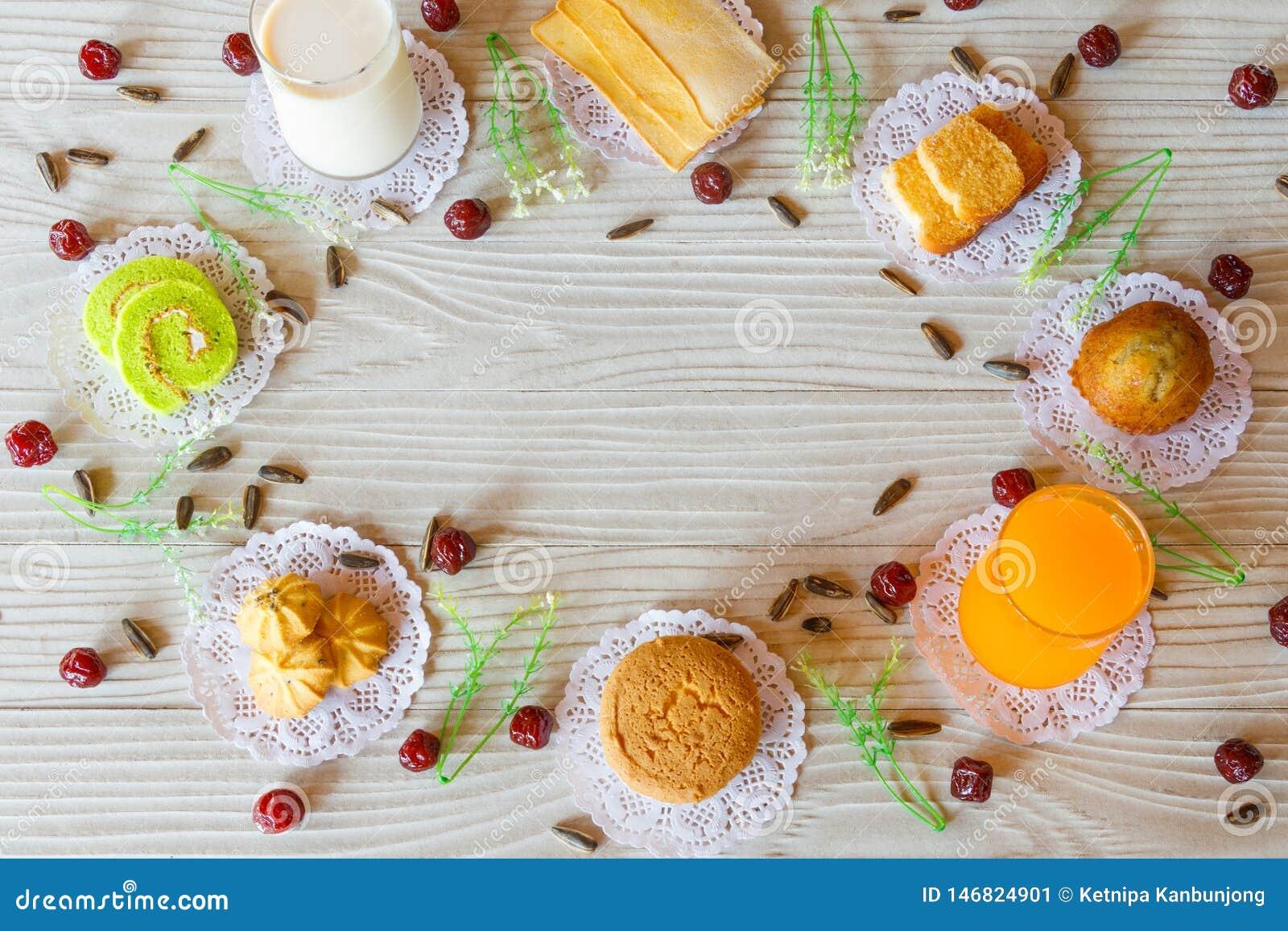 Dojnej masło czosnku chleba babeczki soku pomarańczowego babeczki ciastka torta Chlebowej Bananowej rolki Słonecznikowy ziarno i