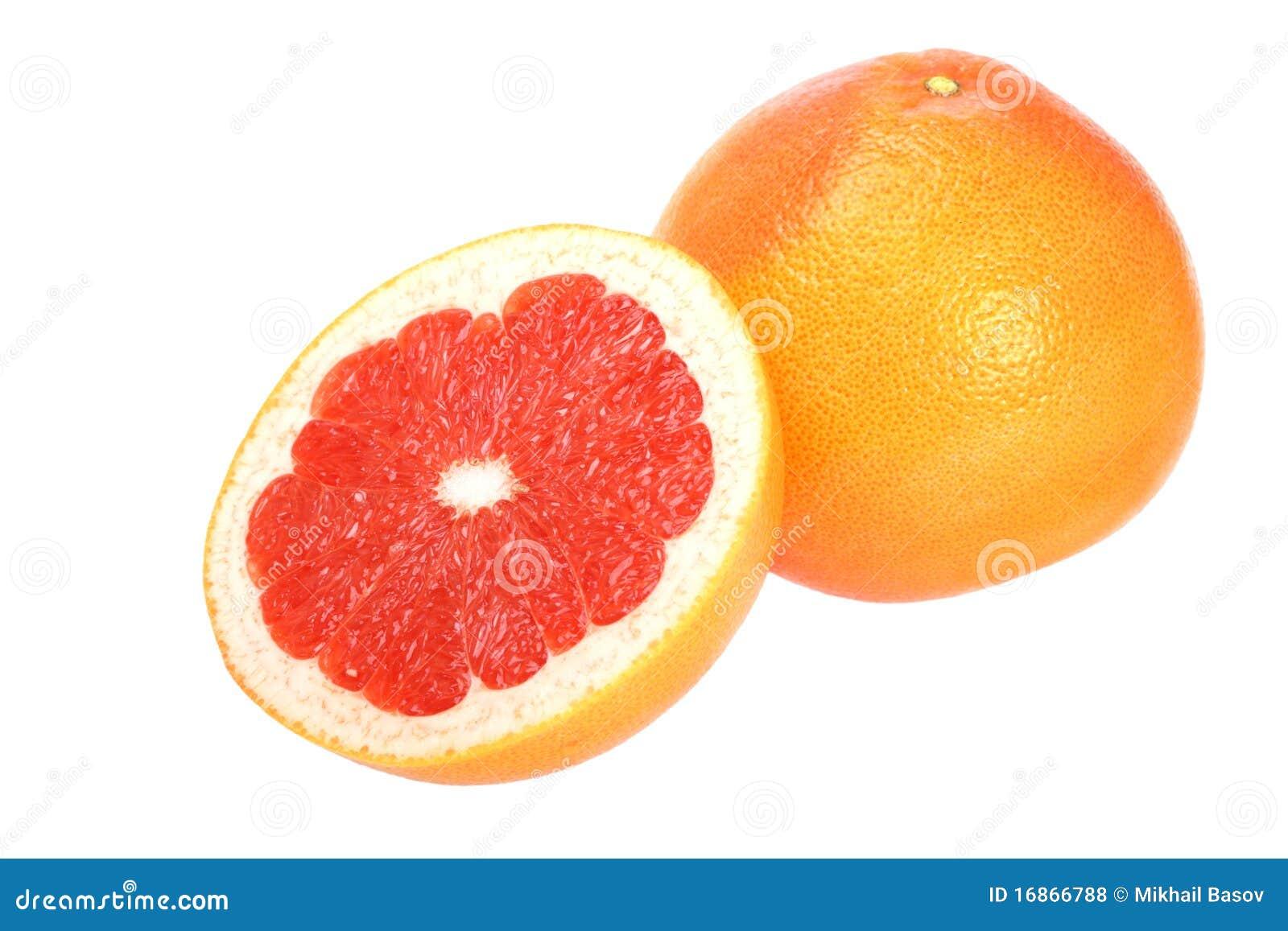 Dojrzała grapefruits czerwień