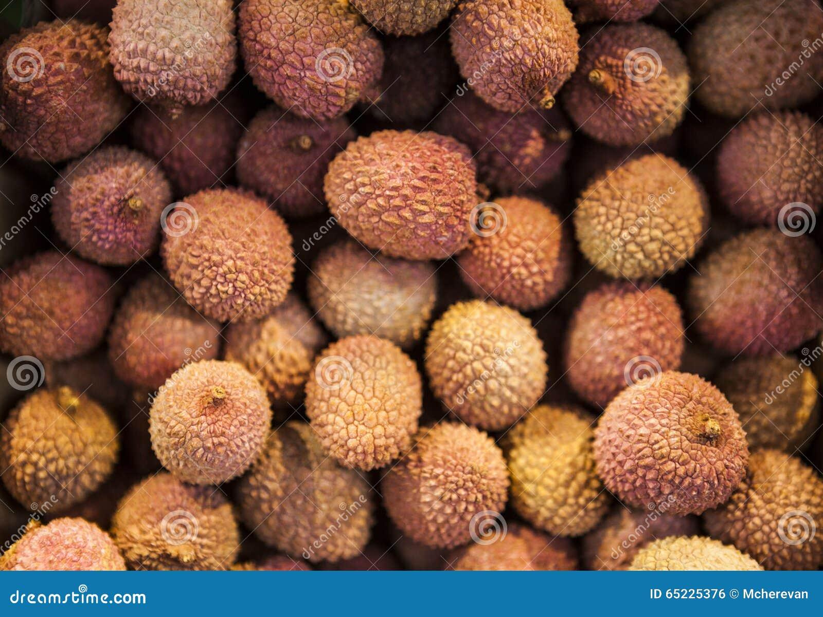 Dojrzałe wyśmienicie świeże litchi owoc, zakończenie