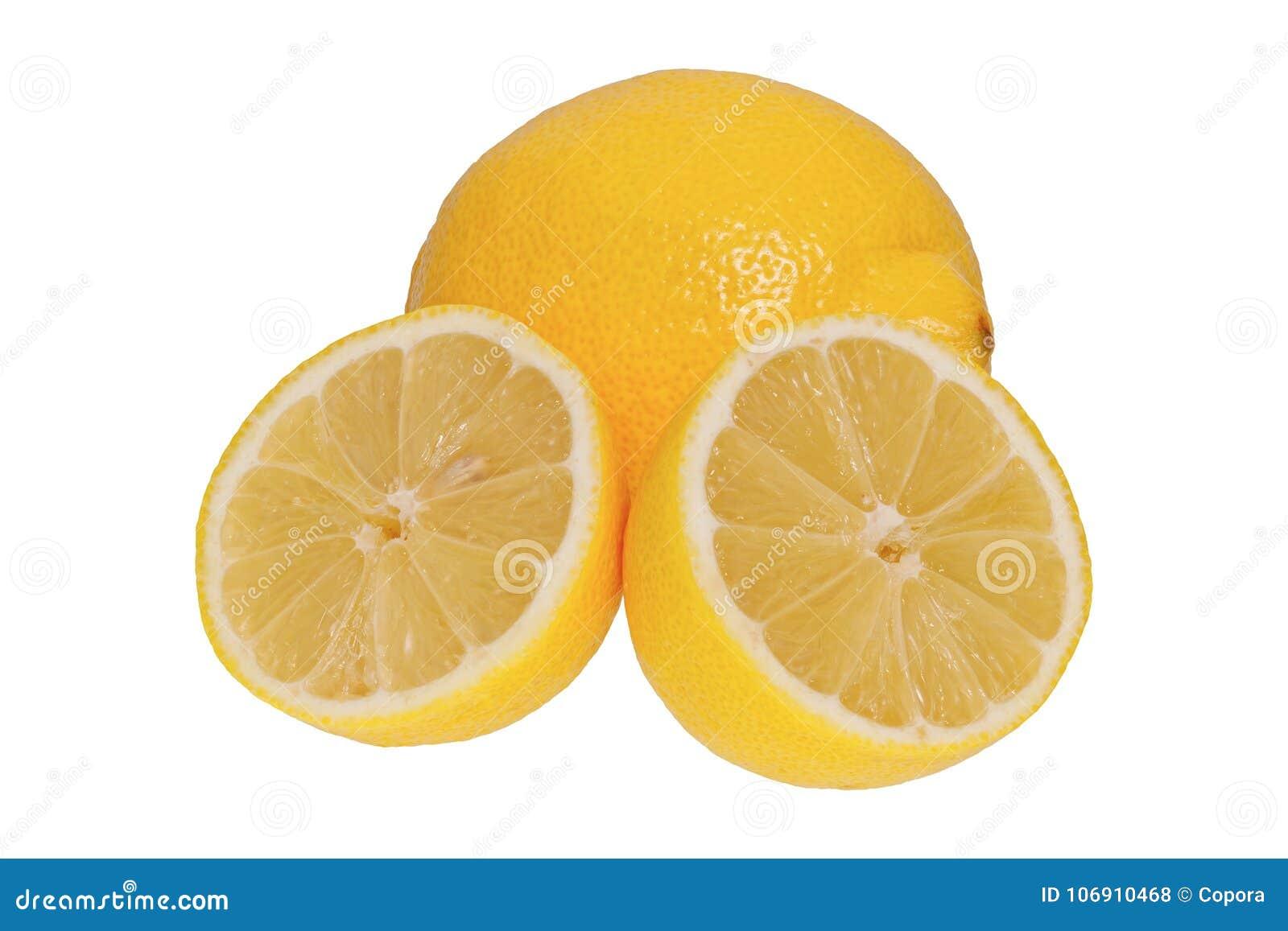 Dojrzały cytryny ona bielu tło