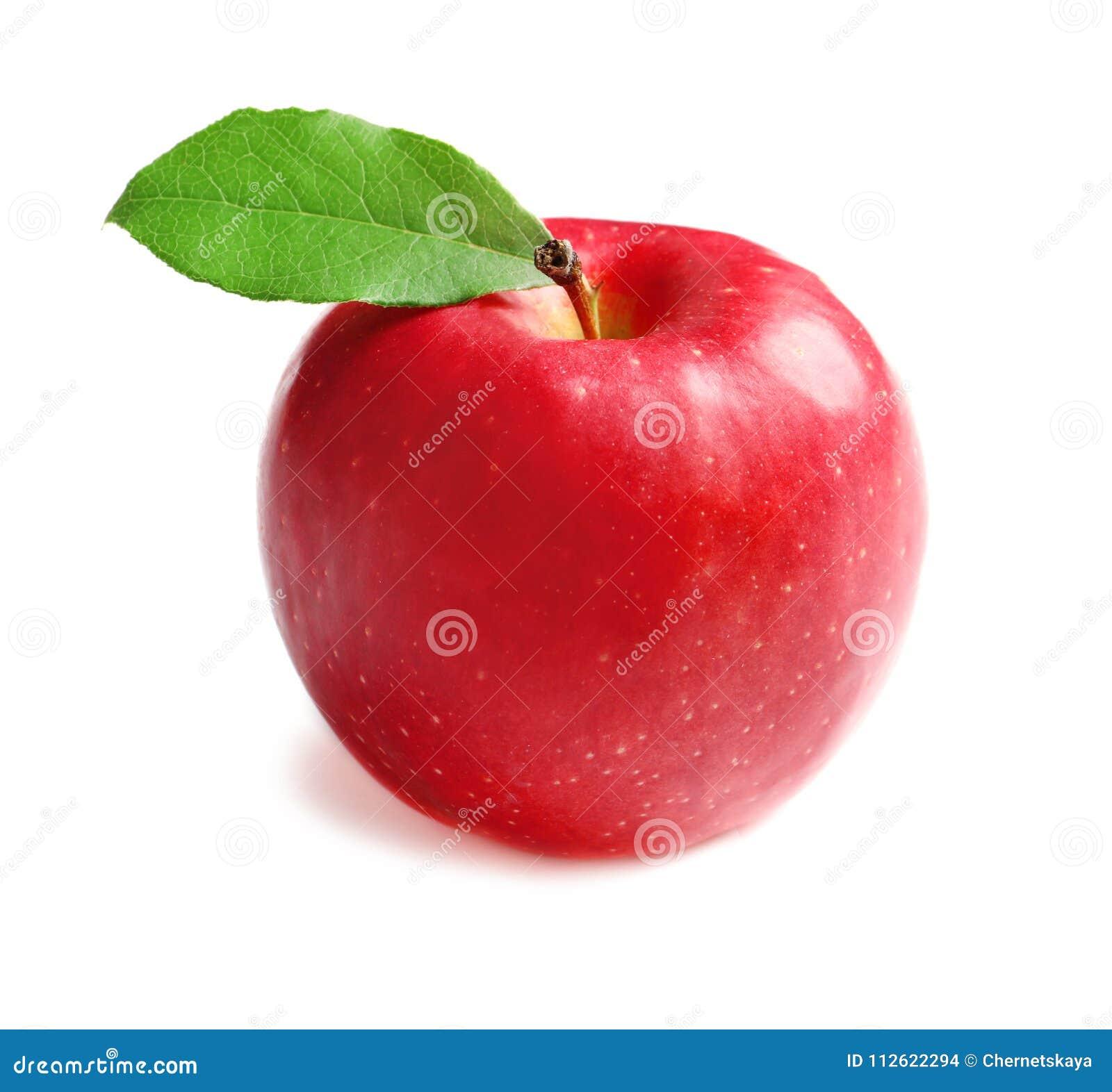 Dojrzały czerwony jabłko na tle