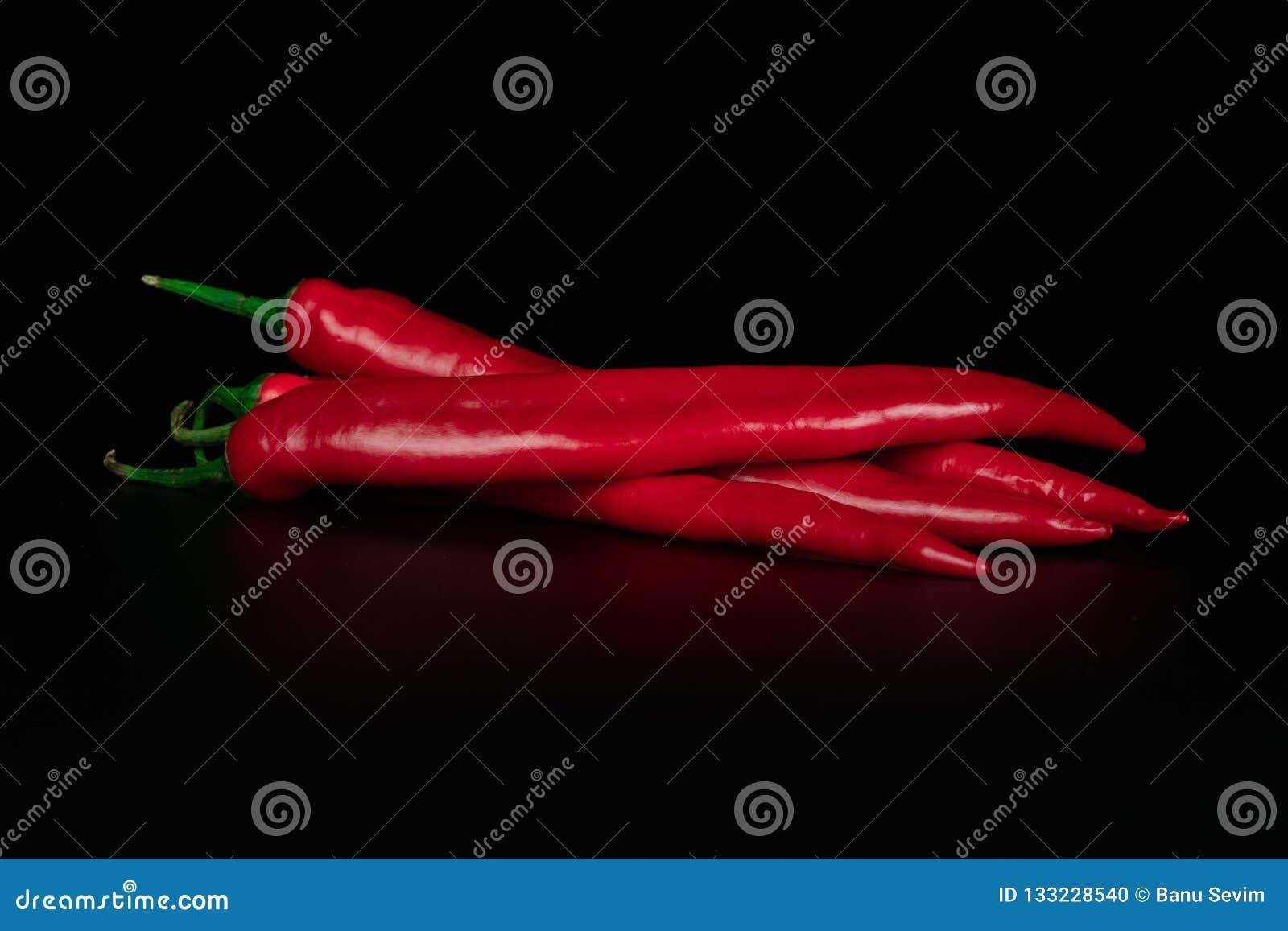 Dojrzały gorący czerwony pieprz