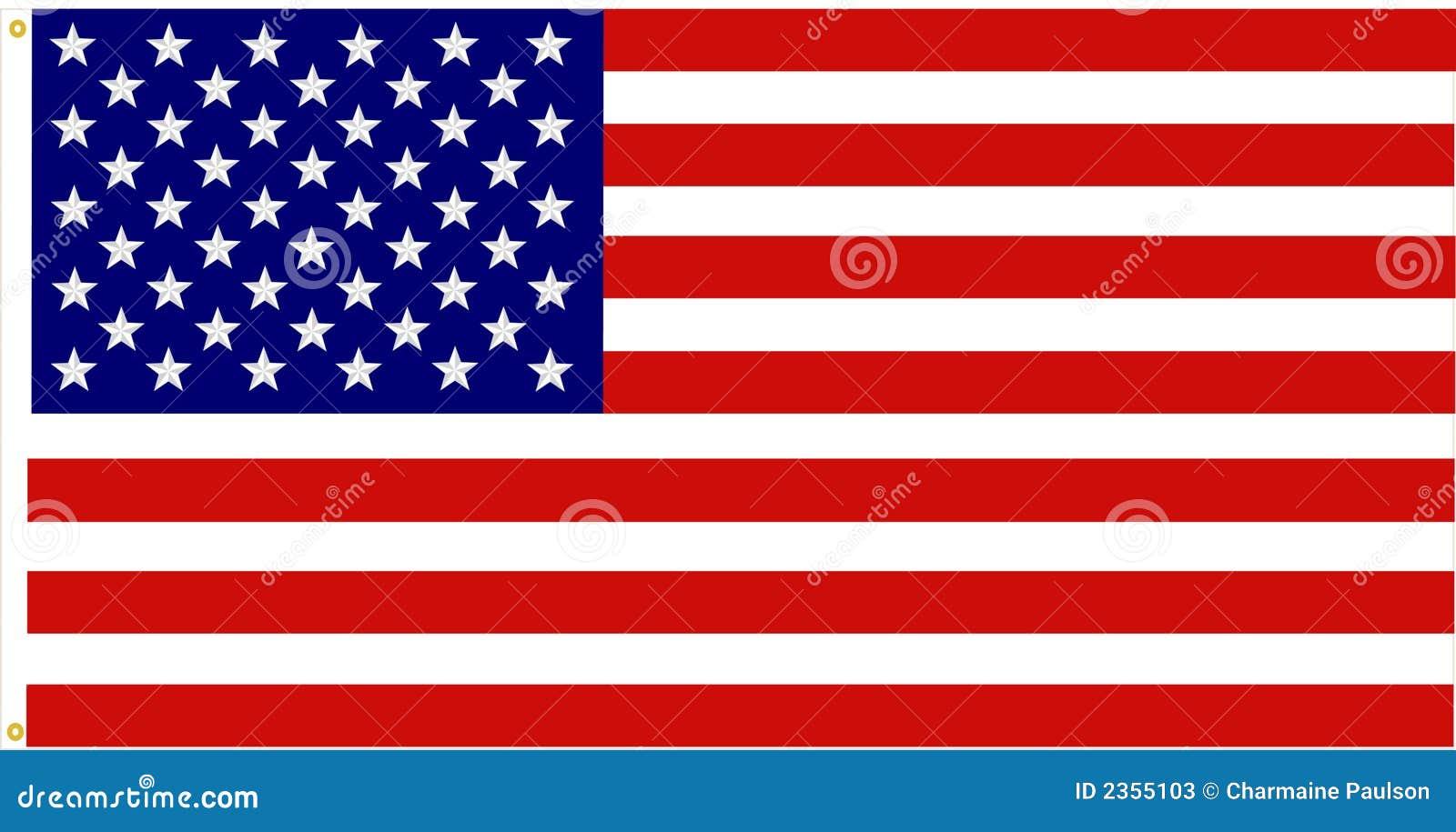 Dokładna amerykańska flaga