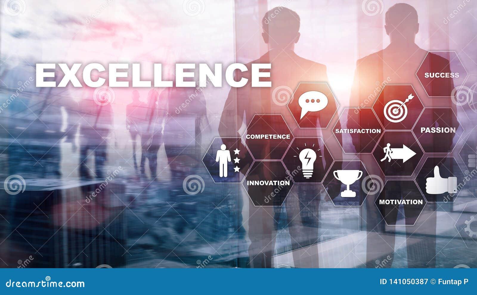 Dokonuje Biznesową doborowość jako pojęcie Pogoń doborowość Zamazany centrum biznesu tło