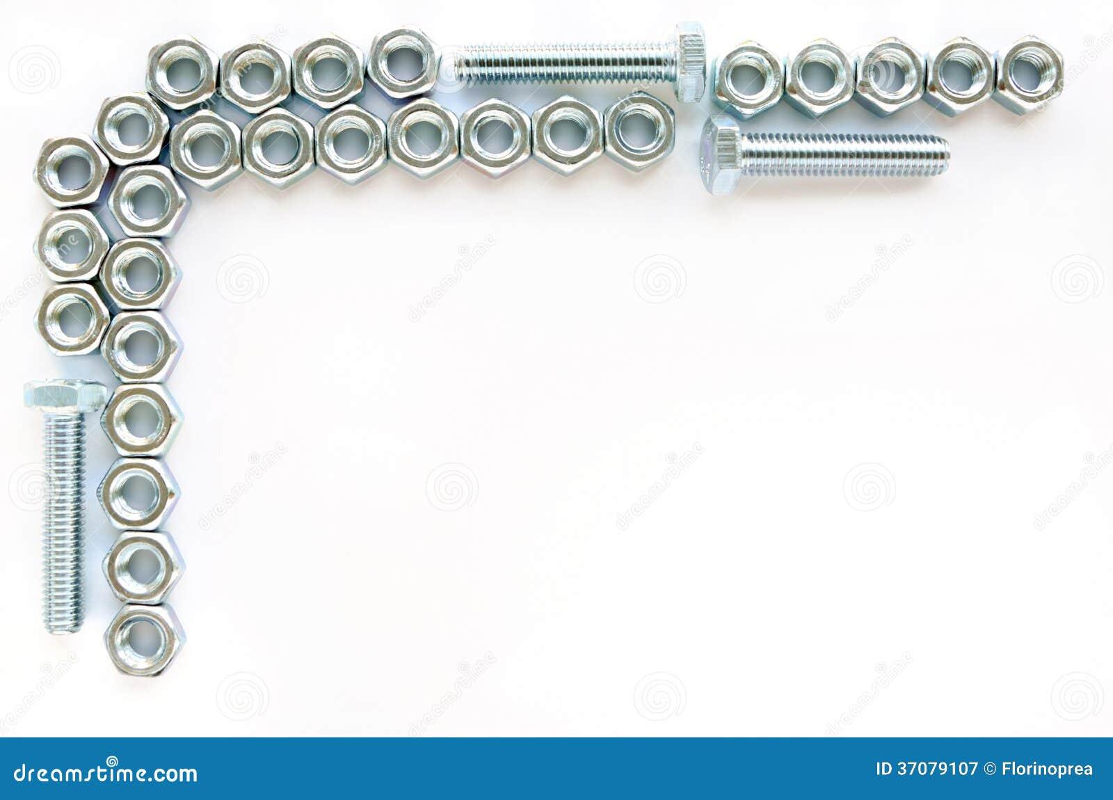 Download Dokrętki - i - rygiel rama obraz stock. Obraz złożonej z przemysłowy - 37079107