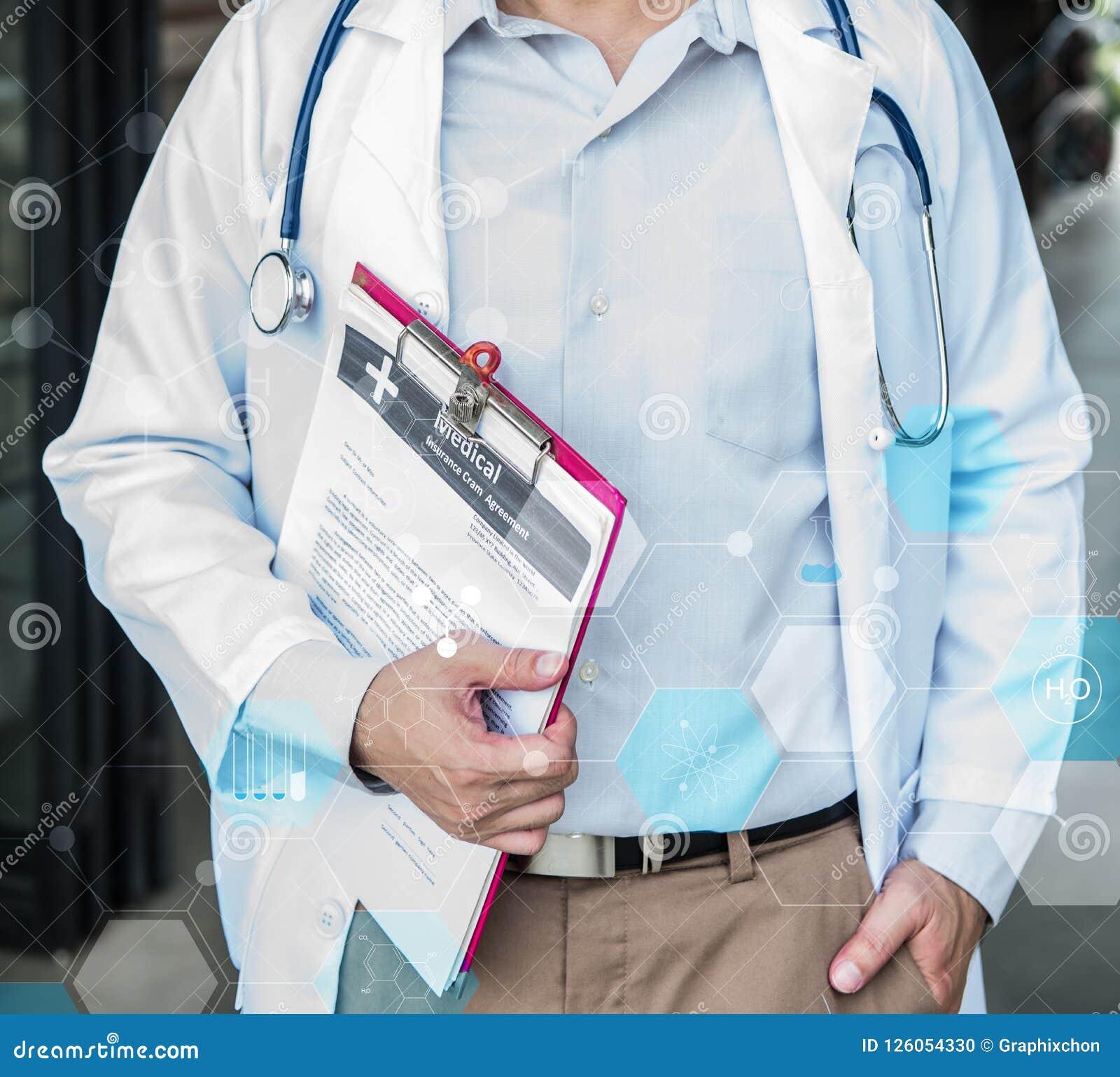 Doktor-, der körperlichen Untersuchung und des Herzens Krankheits-Kontrolleur