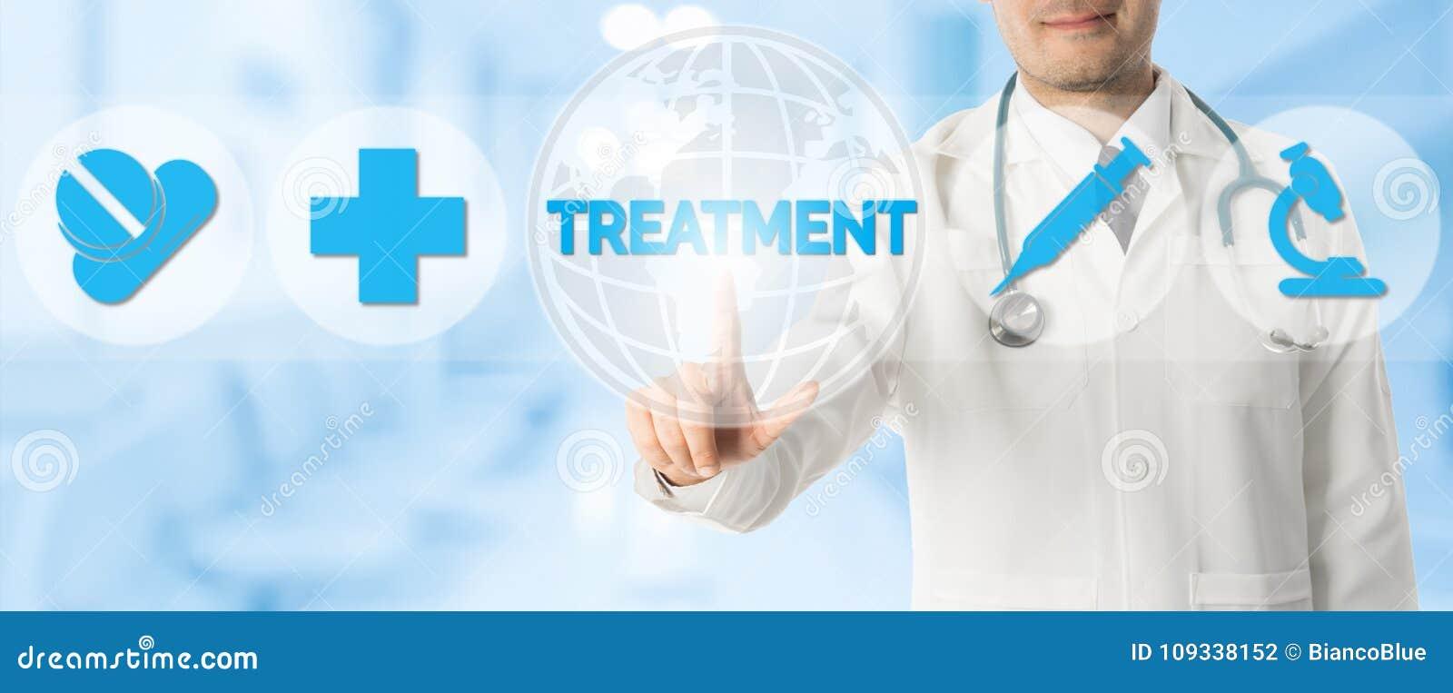 Doktor Points på BEHANDLING med medicinska symboler