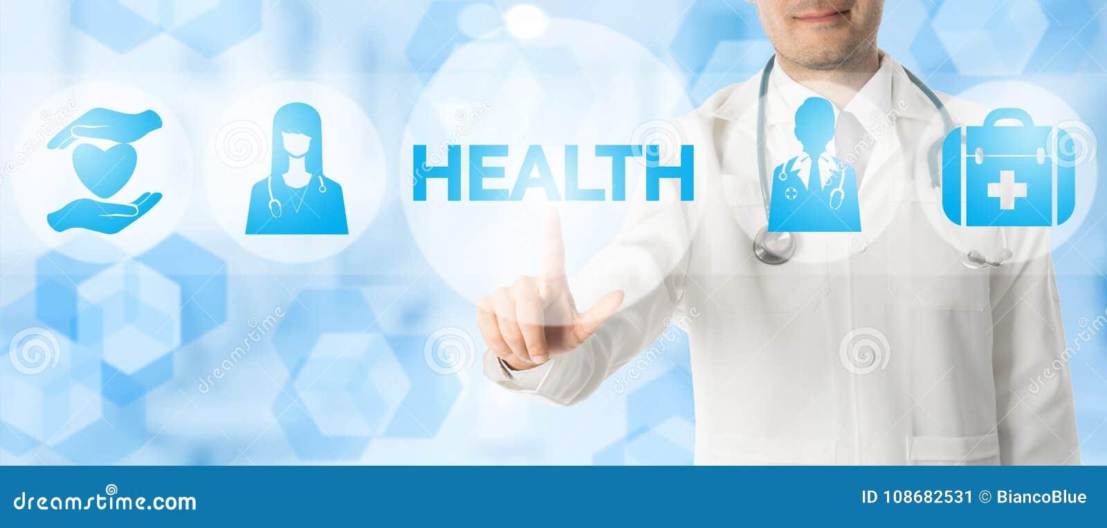 Doktor Points på HÄLSA med medicinska symboler