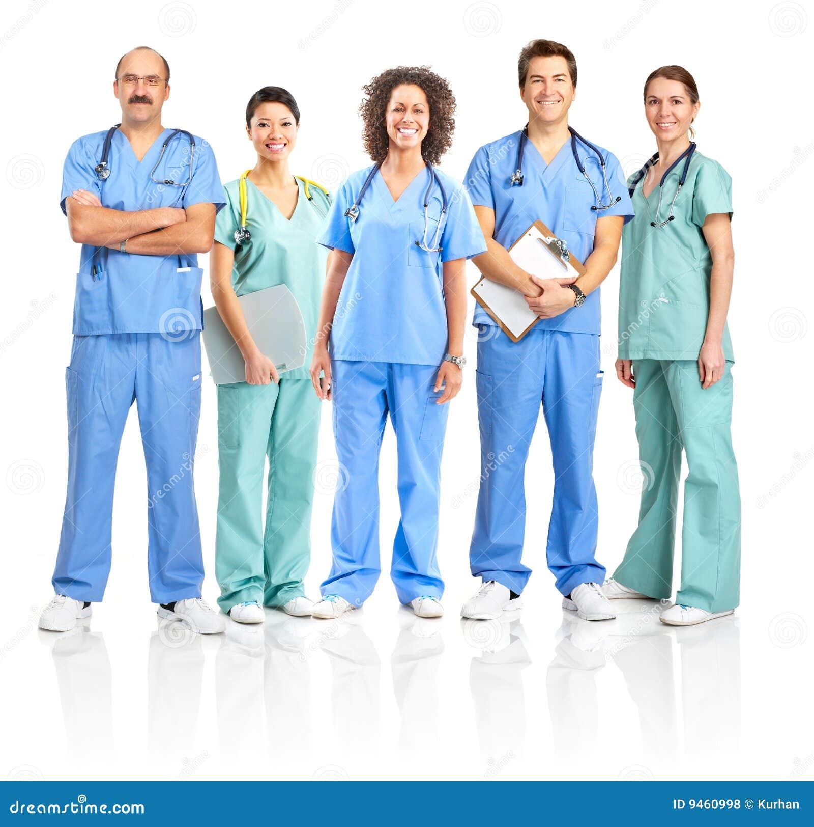 Portrait Der Krankenschwestern Stockfoto - Bild von schön