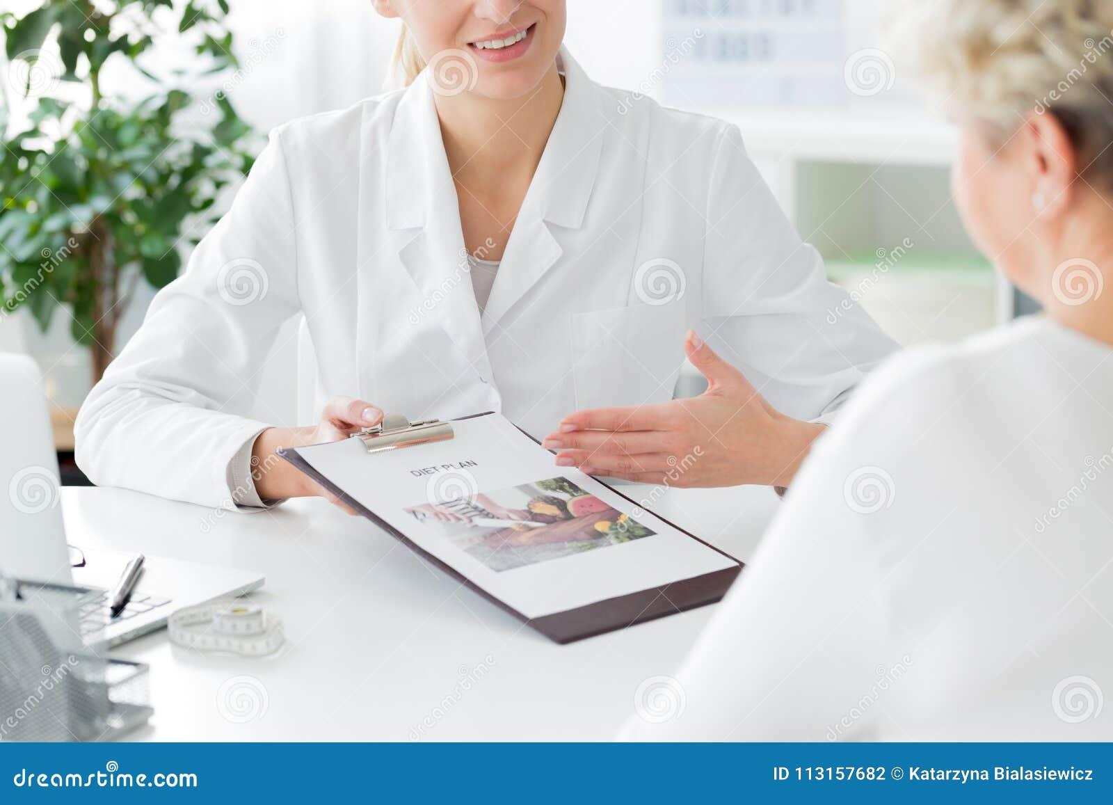 Doktorn som rekommenderar, bantar plan