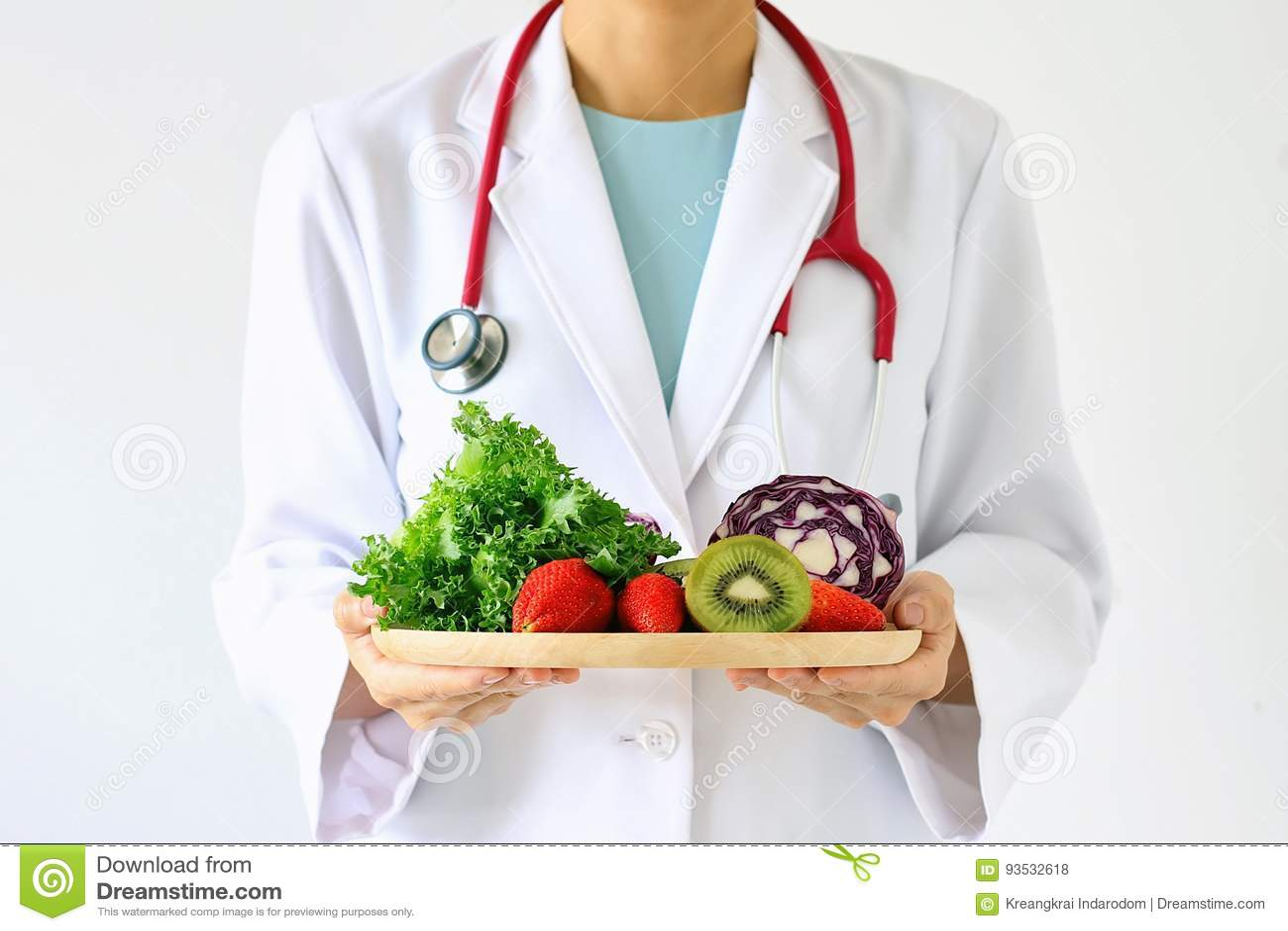 Doktorn som rymmer ny frukt och grönsaken som är sunda bantar