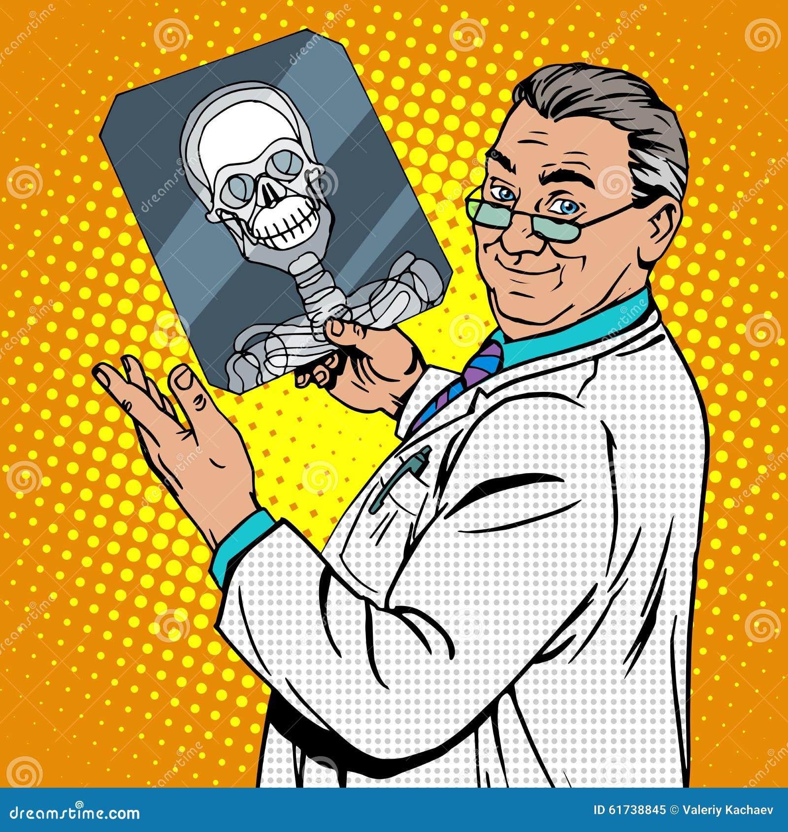Doktorska chirurgów promieniowań rentgenowskich czaszka