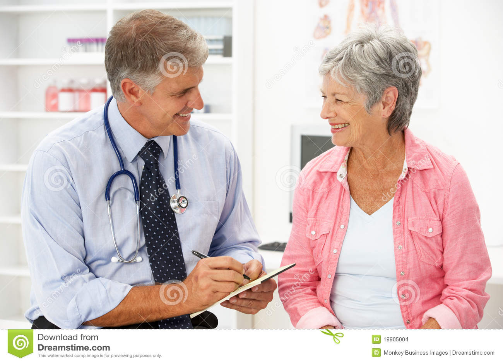 Doktorski żeński pacjent
