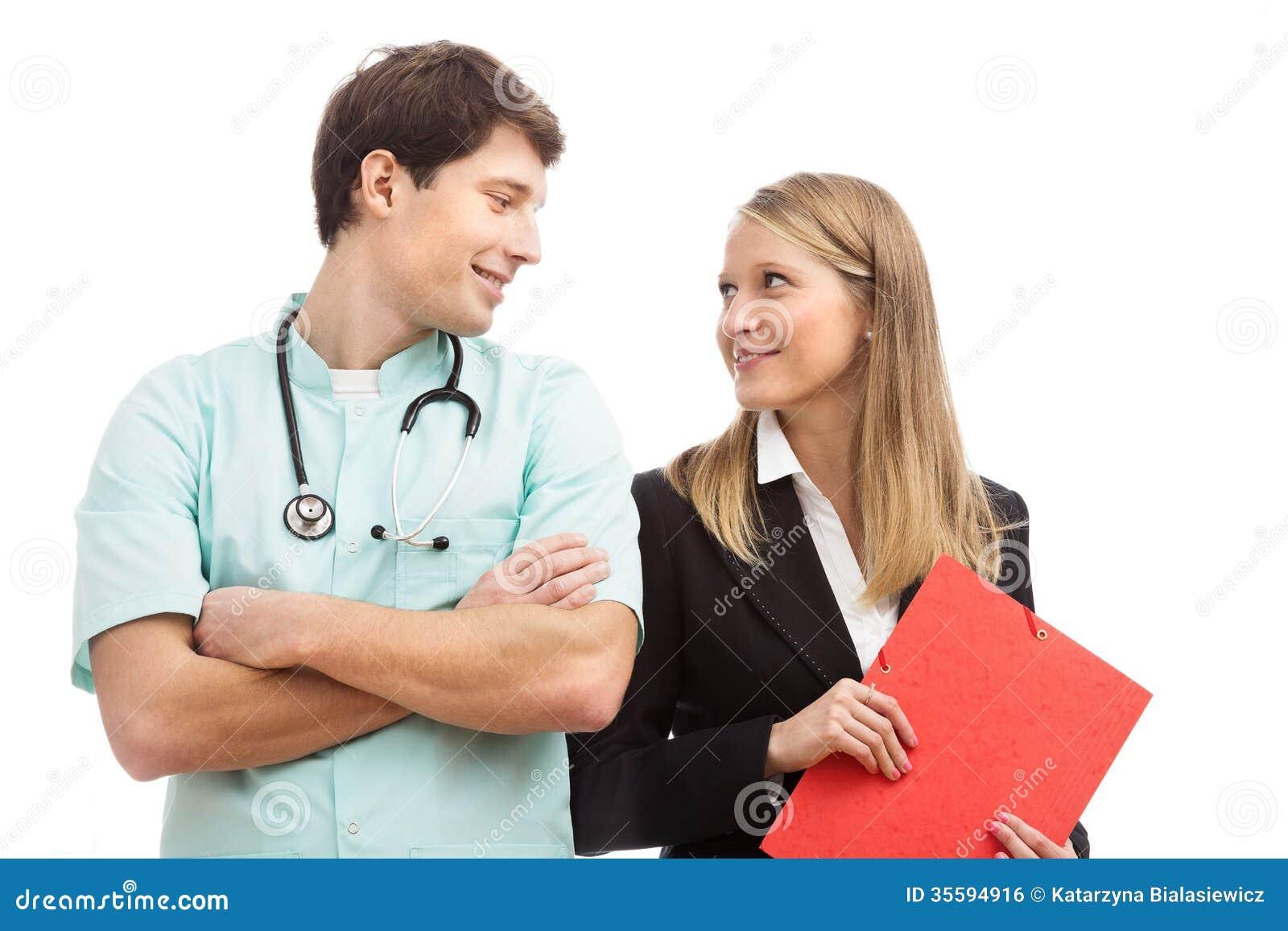 Doktorski i finansowy specjalista w szpitalu