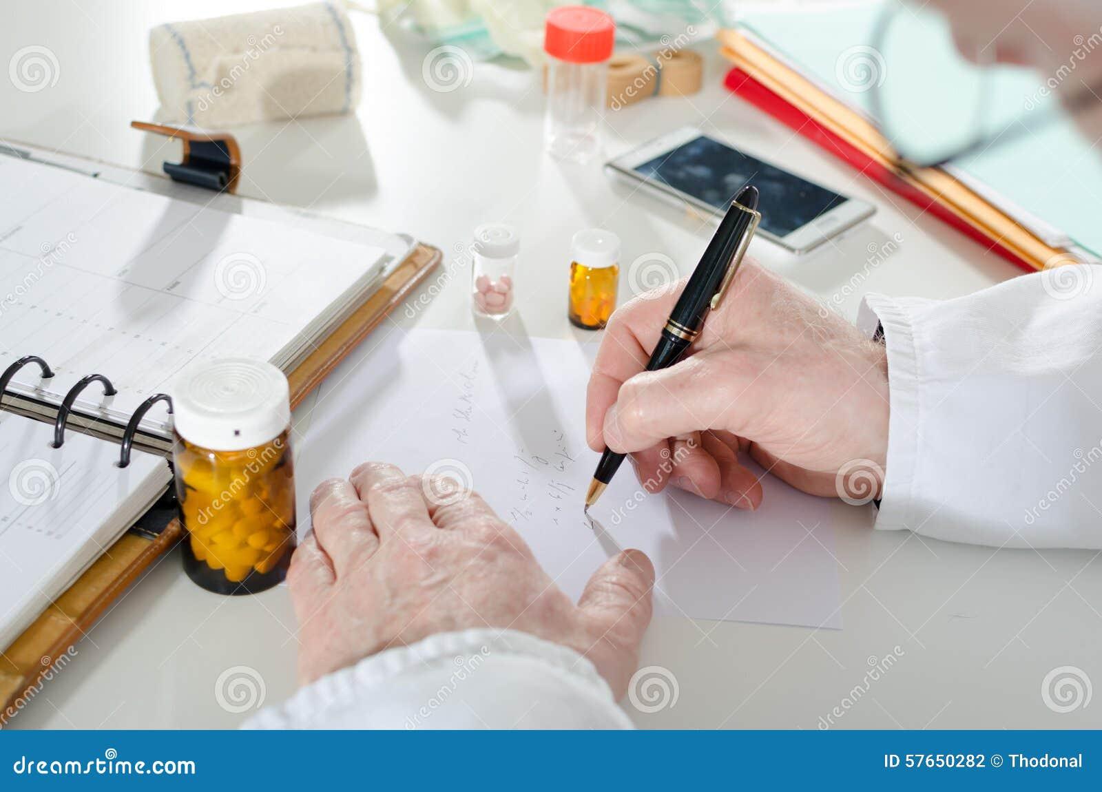 Doktorski recepturowy writing