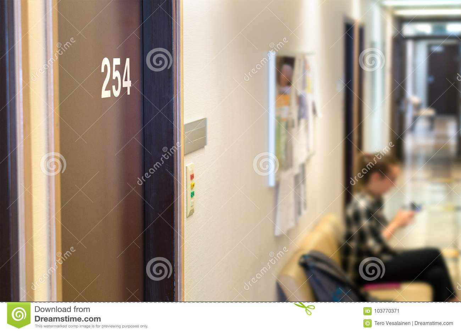 Doktorski ` s czekania teren lub pokój w szpitalu