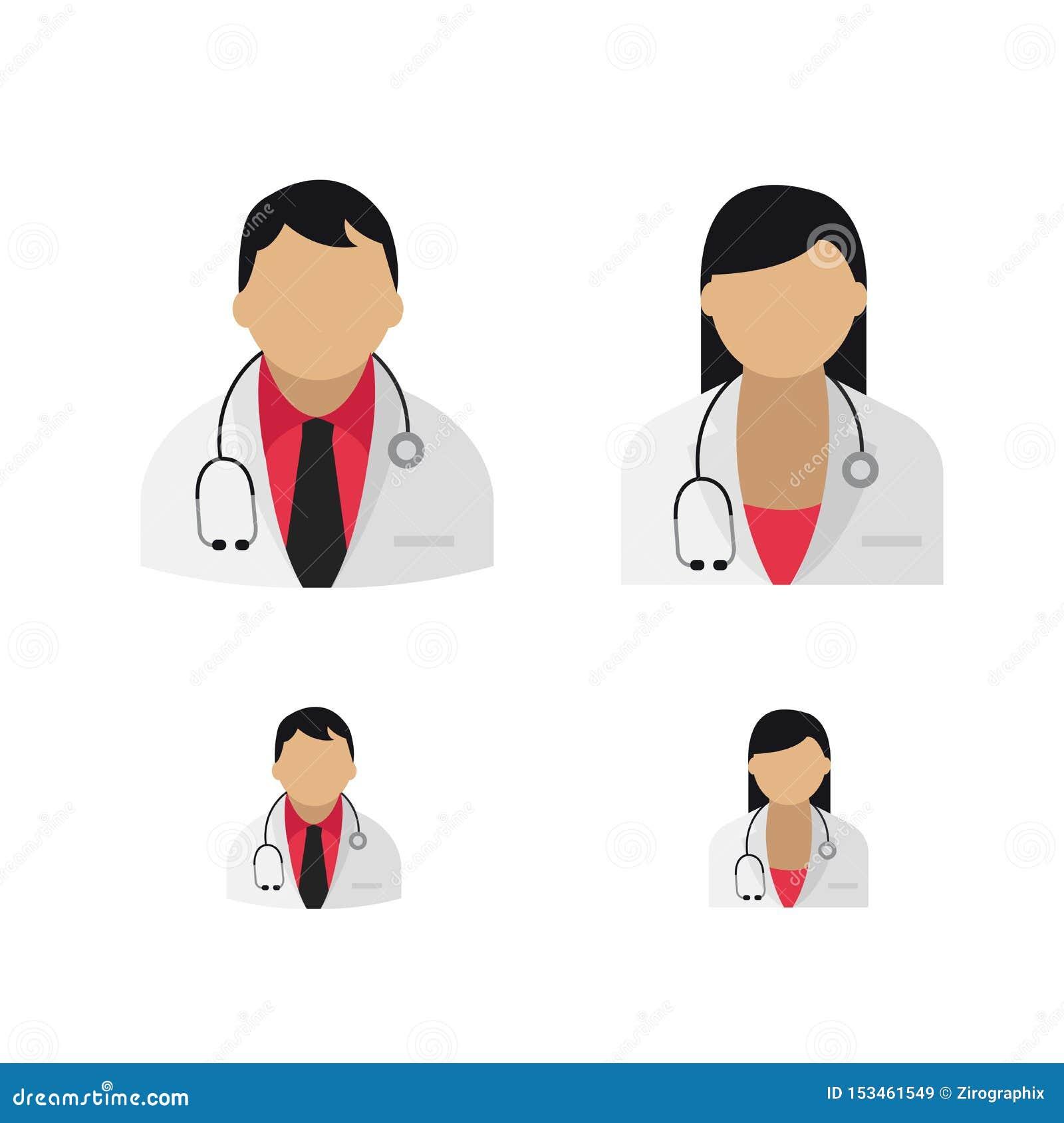 Doktorssymboler i vektorkonst för båda genus