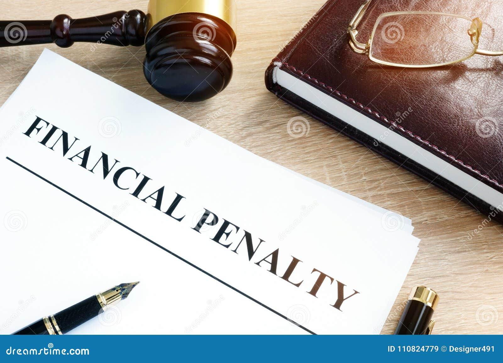 Dokument med finansiellt straff för titel