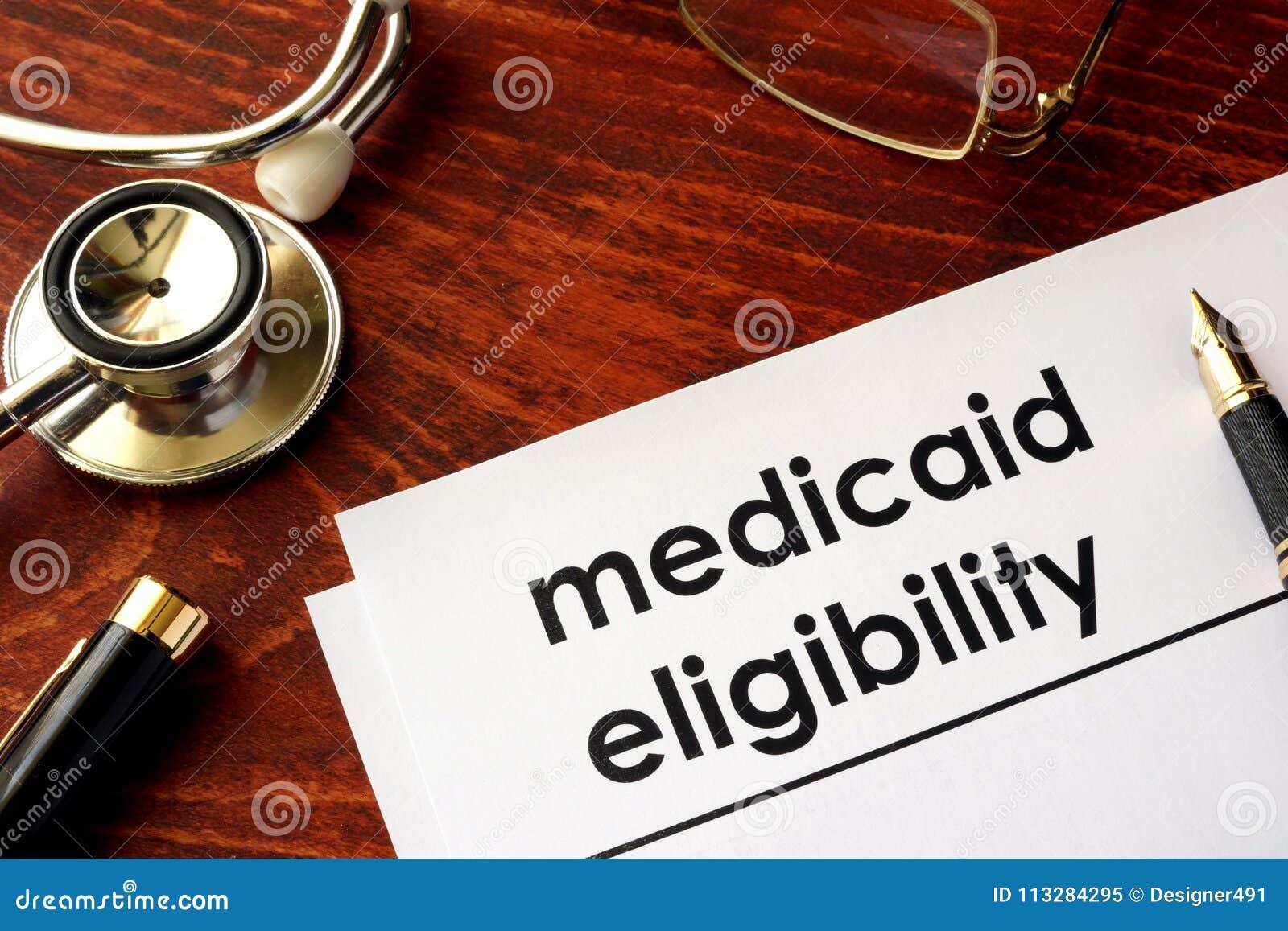 Dokument mit Titel Medicaid-Eignung