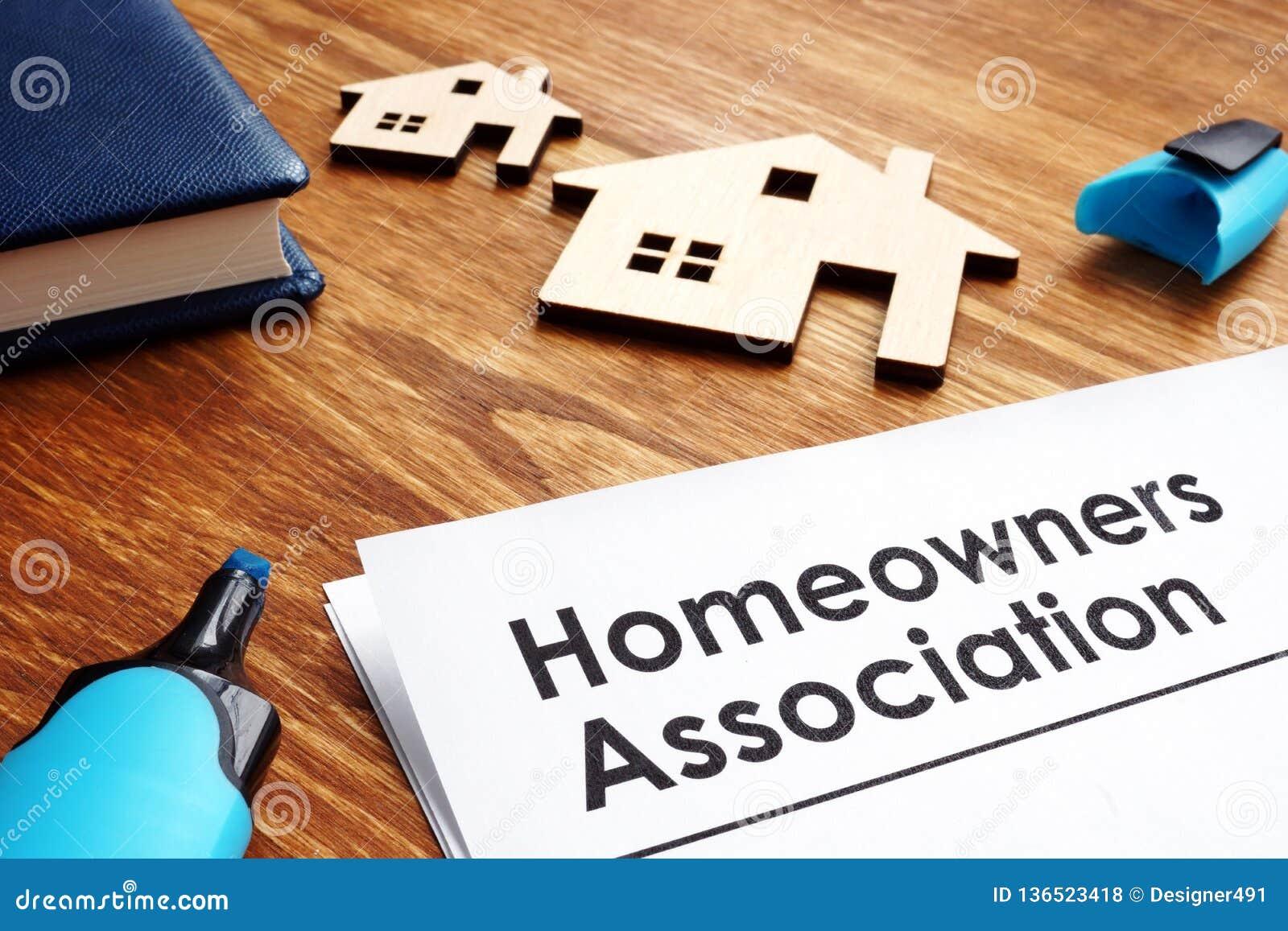 Dokumente über Hausbesitzer-Vereinigung HOA
