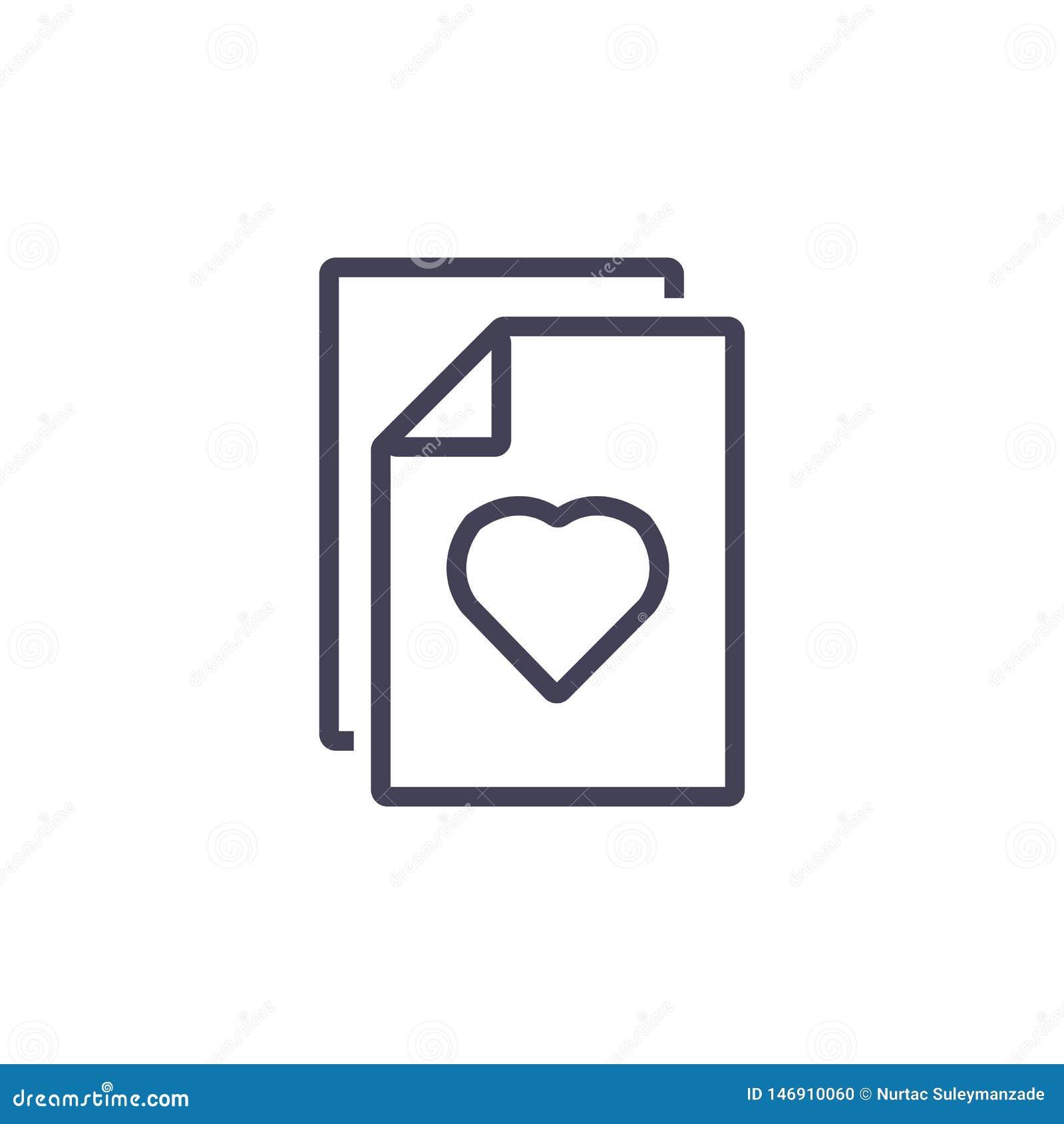 Dokumentu, serce ikony, Kreskowej i Nowożytnej ikona,