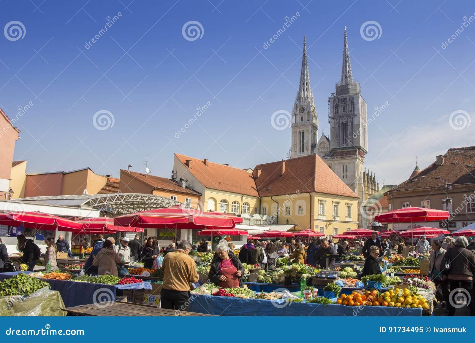 Dolacmarkt in Zagreb