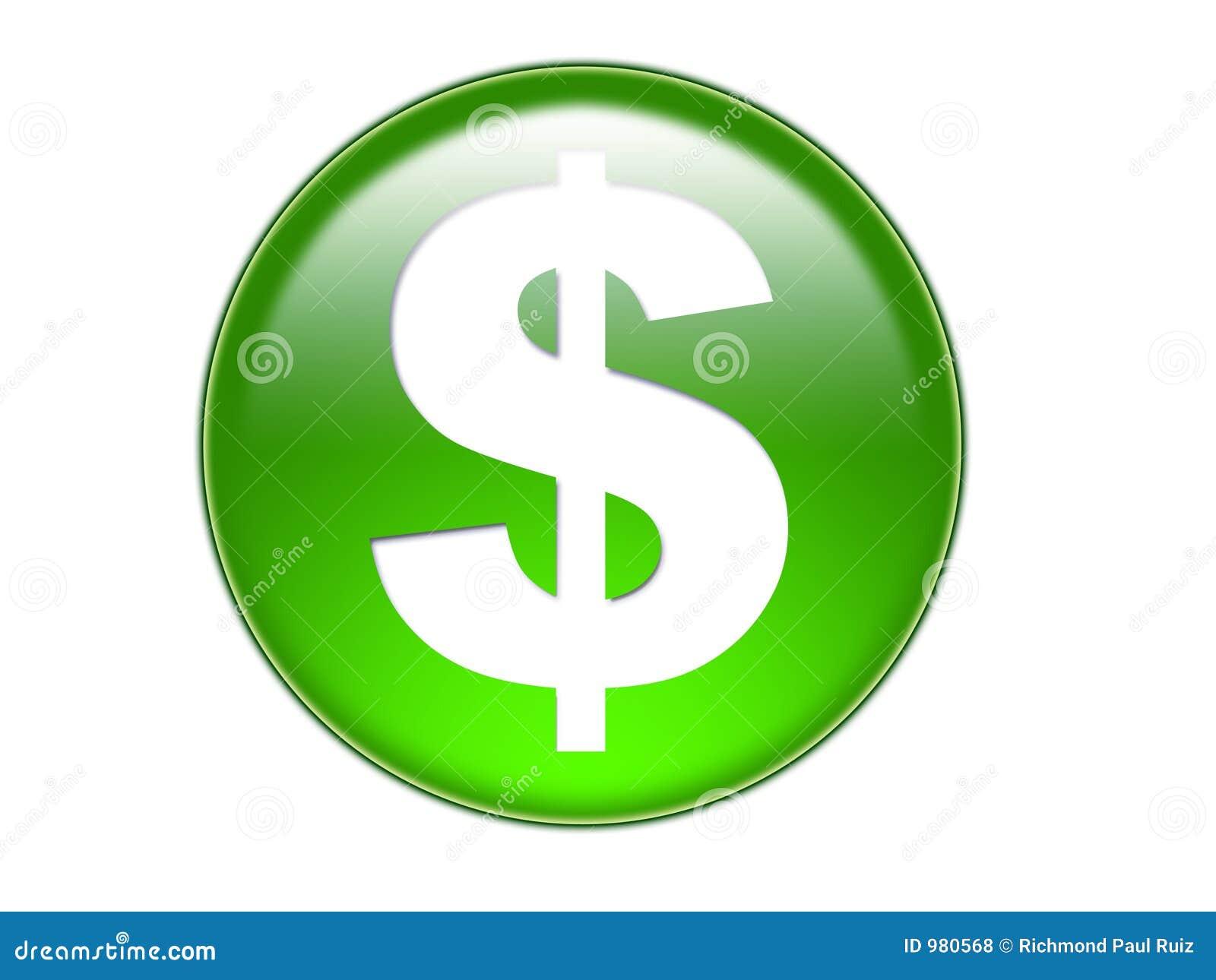 Dolar tyłek pieniądze szklany symbol