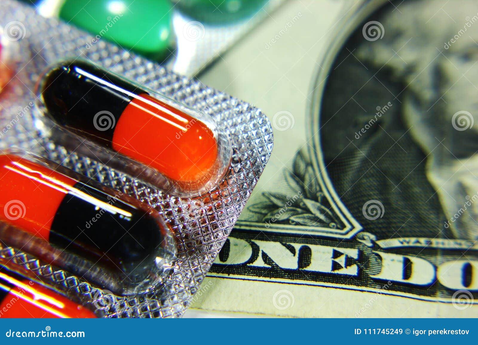 Dolar, wydatek na zdrowie lub pomoc finansowa,
