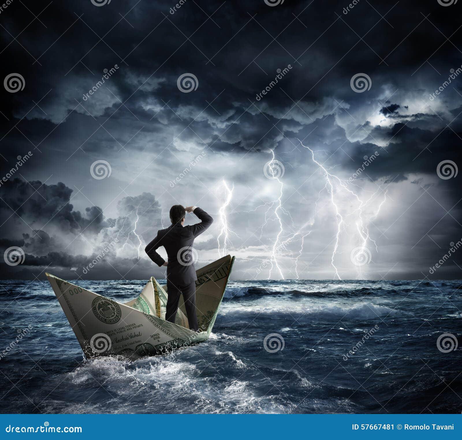 Dolarowa łódź w złej pogodzie
