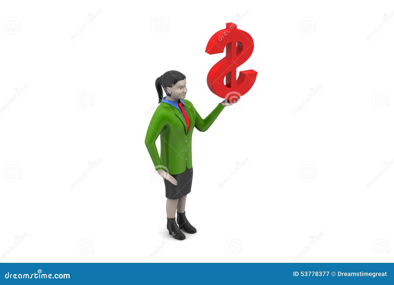 Dolarowy znak z kobietami