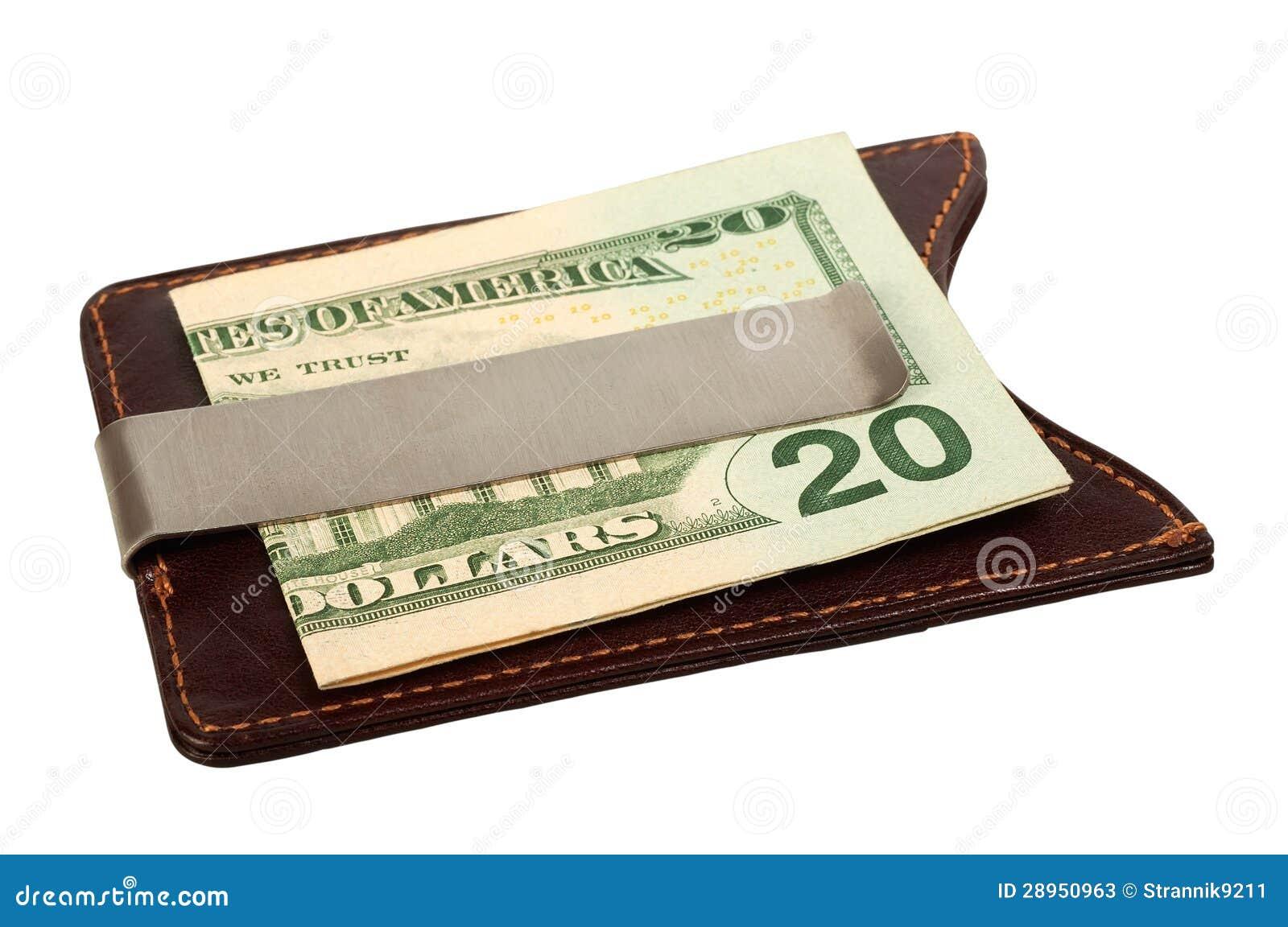 Dolary w pieniądze klamerce.