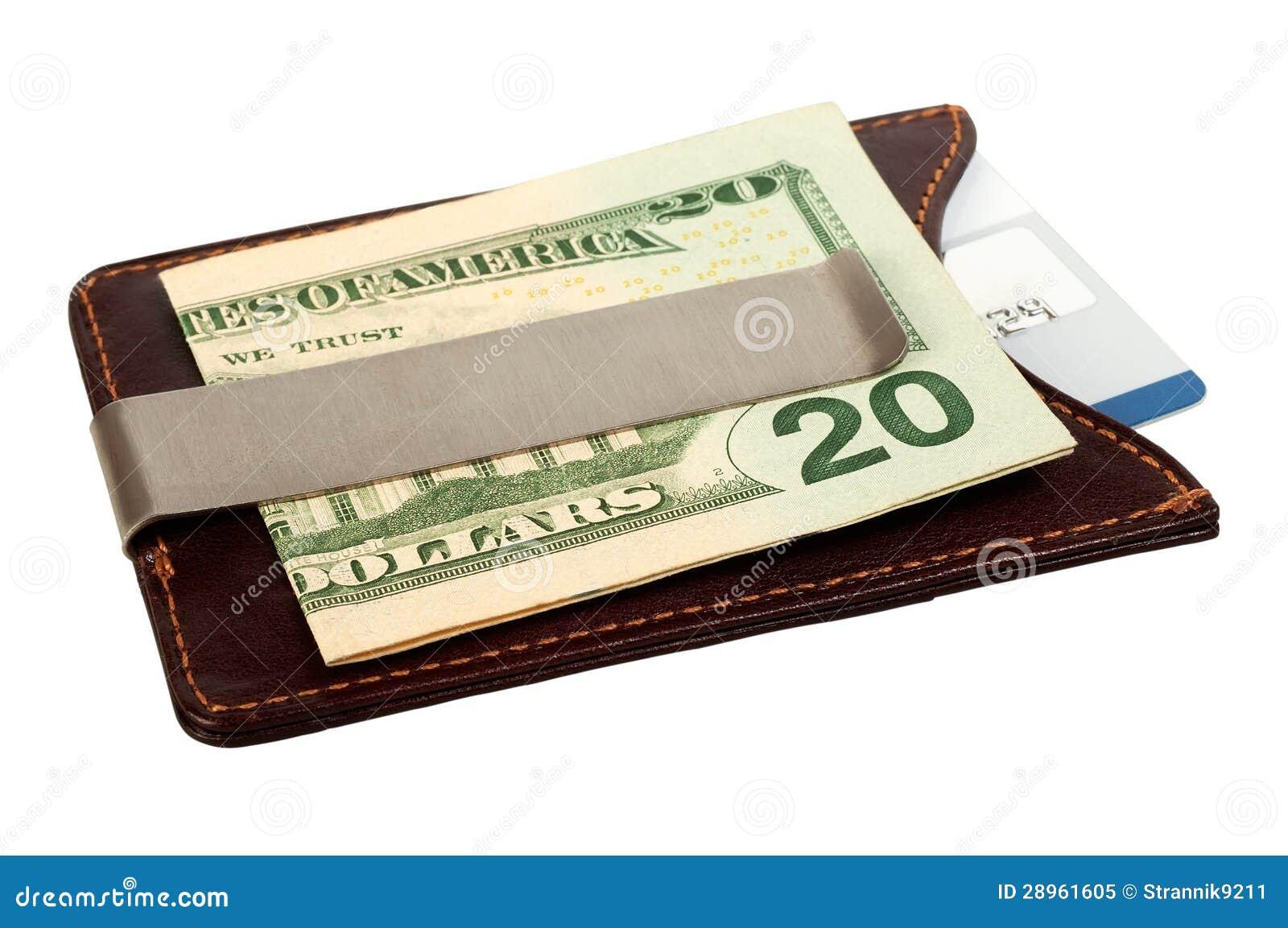 Dolary w pieniądze klamerce i kredytowej karcie.