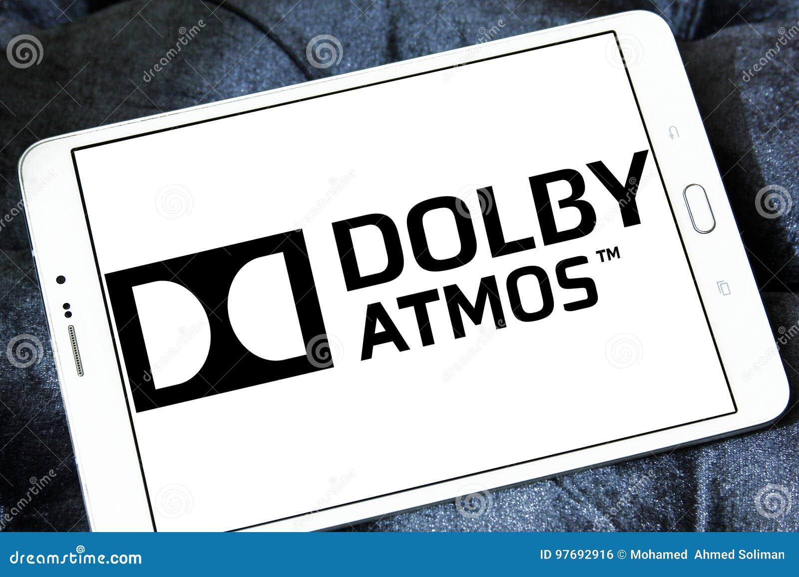 Dolby atmos dźwięka technologii logo