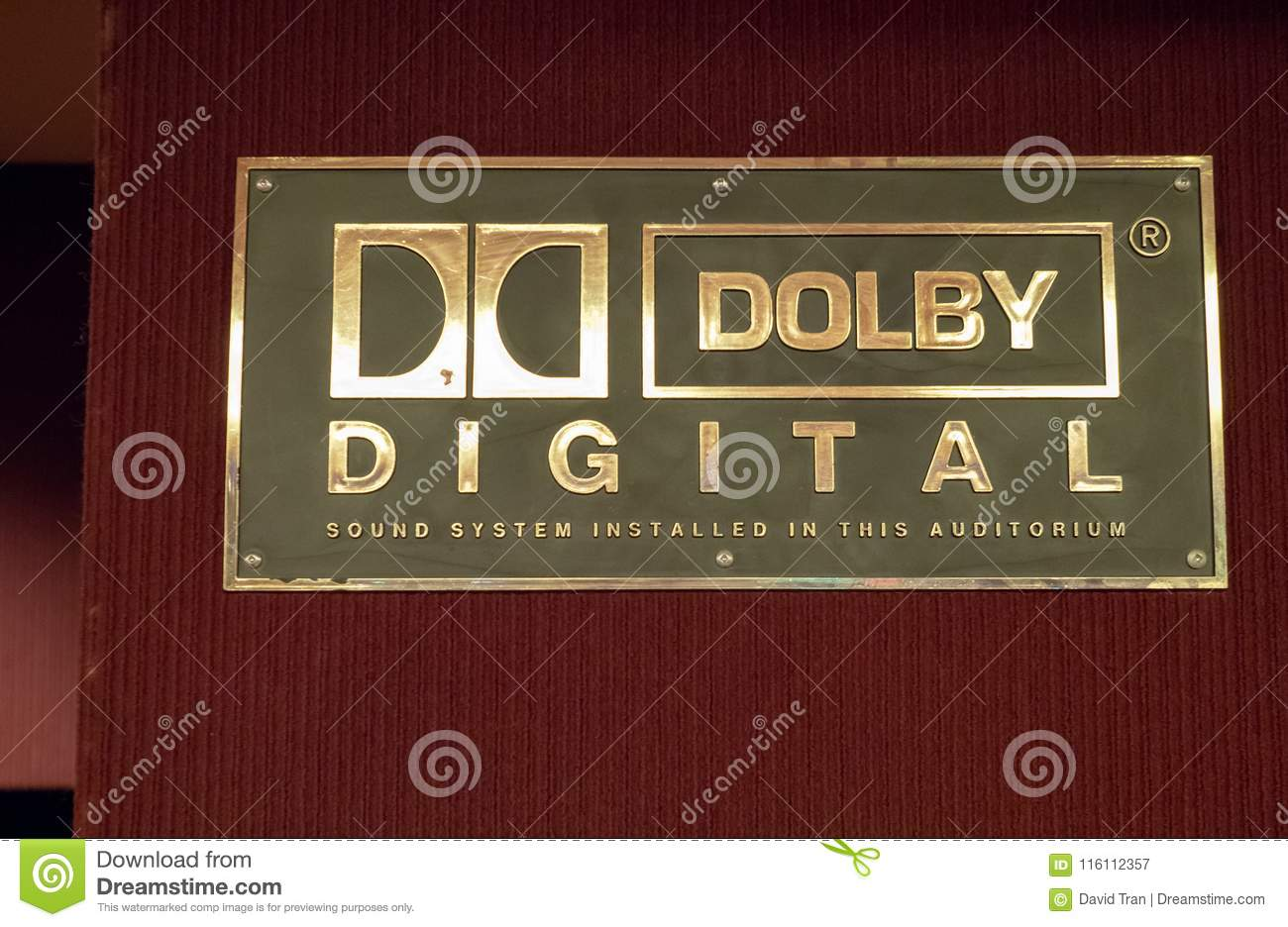 Dolby Digital Logo Outside Of A Movie Theater Editorial Photography