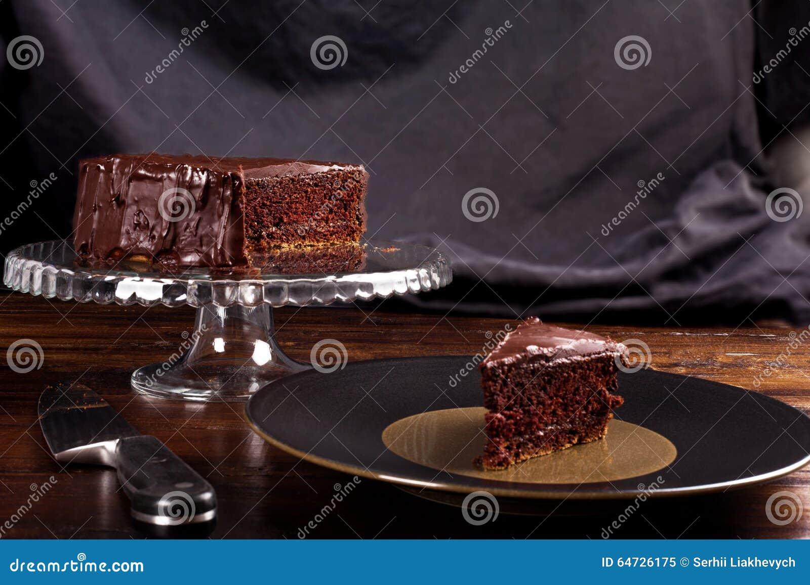 Dolce di cioccolato delizioso di Sacher