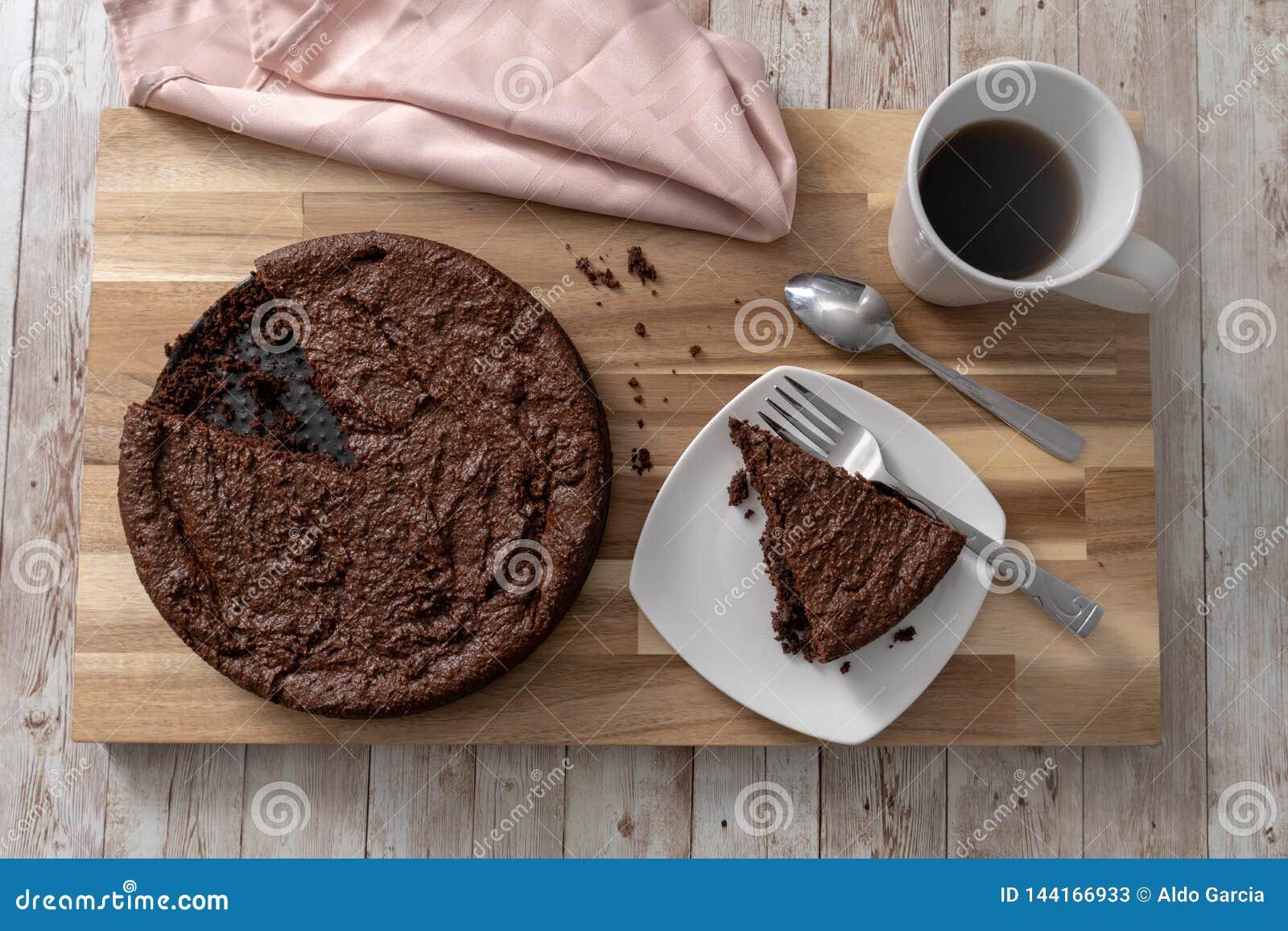 Dolce di cioccolato libero del glutine
