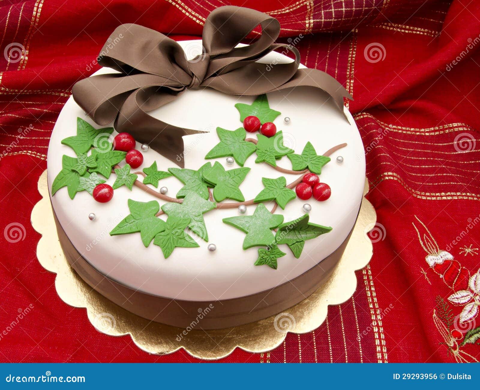 Dolce di natale immagine stock libera da diritti - Decorazioni natalizie per torte ...