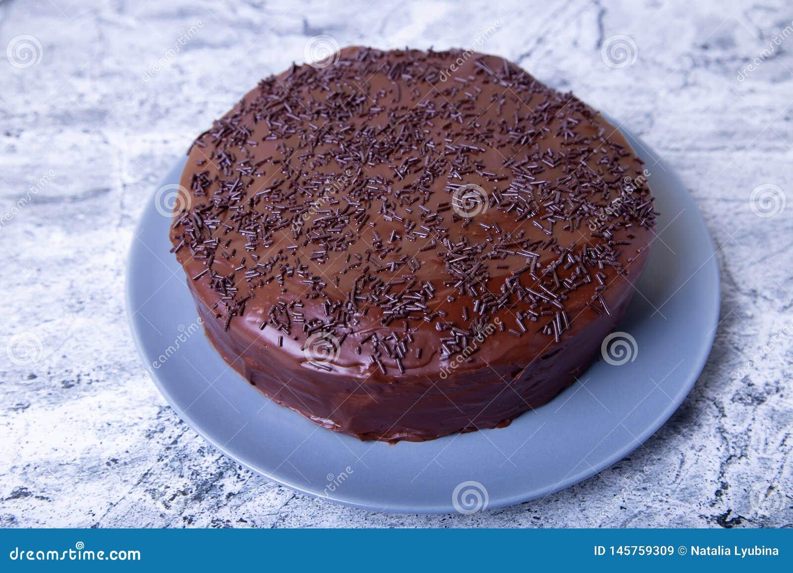 Dolce di Sacher Dessert austriaco tradizionale del cioccolato