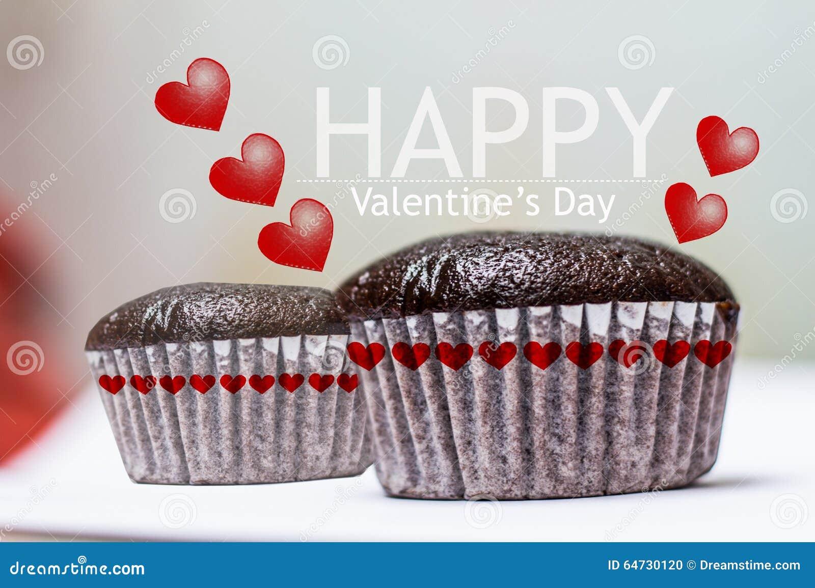 Dolce felice della tazza di babana del choccolate di San Valentino