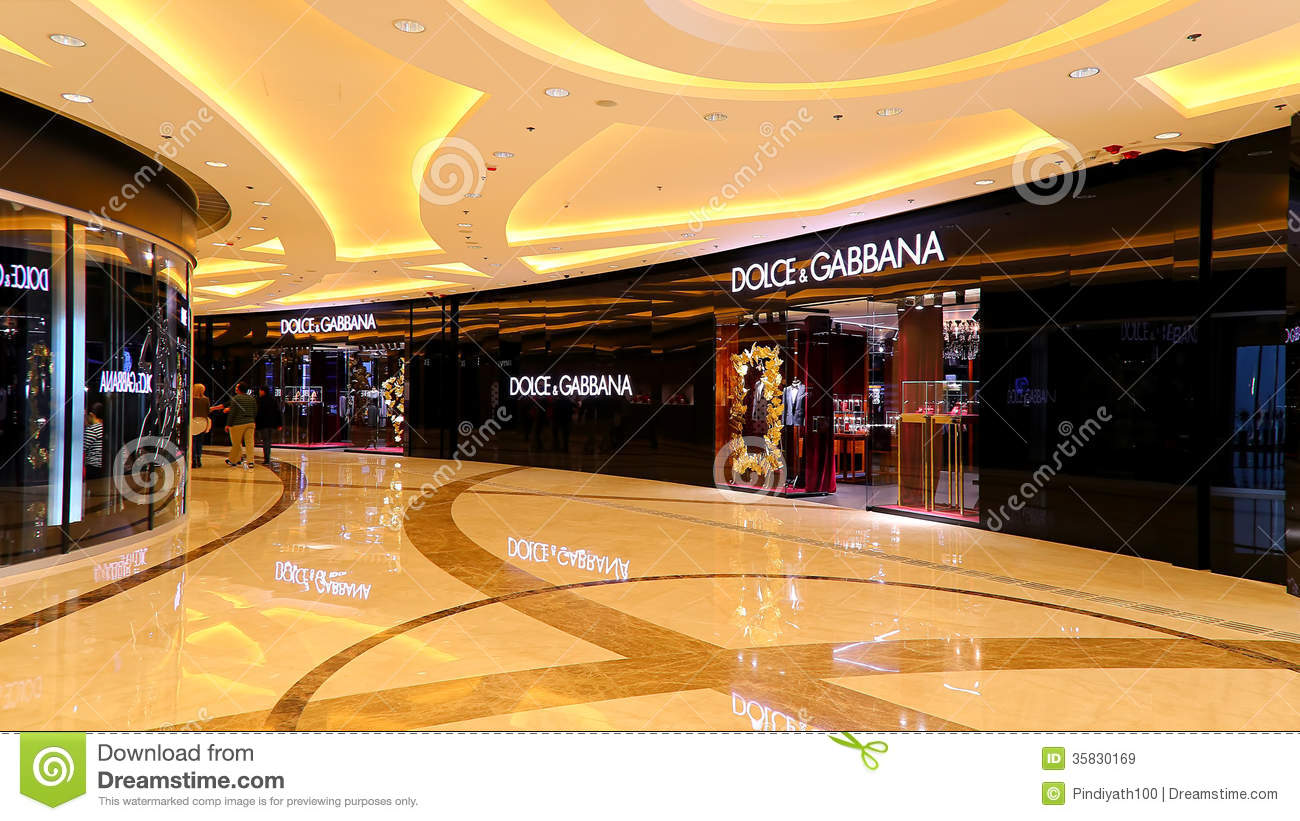 Dolce gabbana boutique hong kong editorial stock image for Boutique luxury