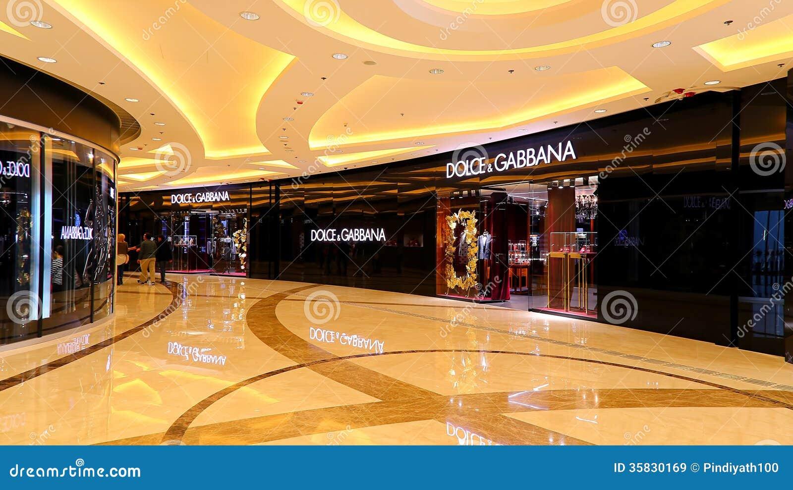 Dolce Amp Gabbana Boutique Hong Kong Editorial Stock Image