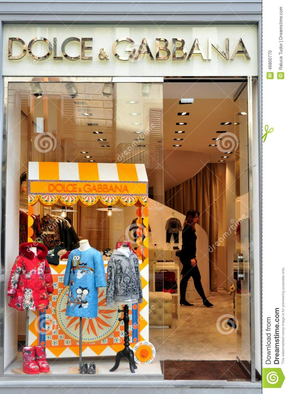 b93ba867f48b Dolce And Gabbana Luxury Fashion Store In Italy Editorial Image ...