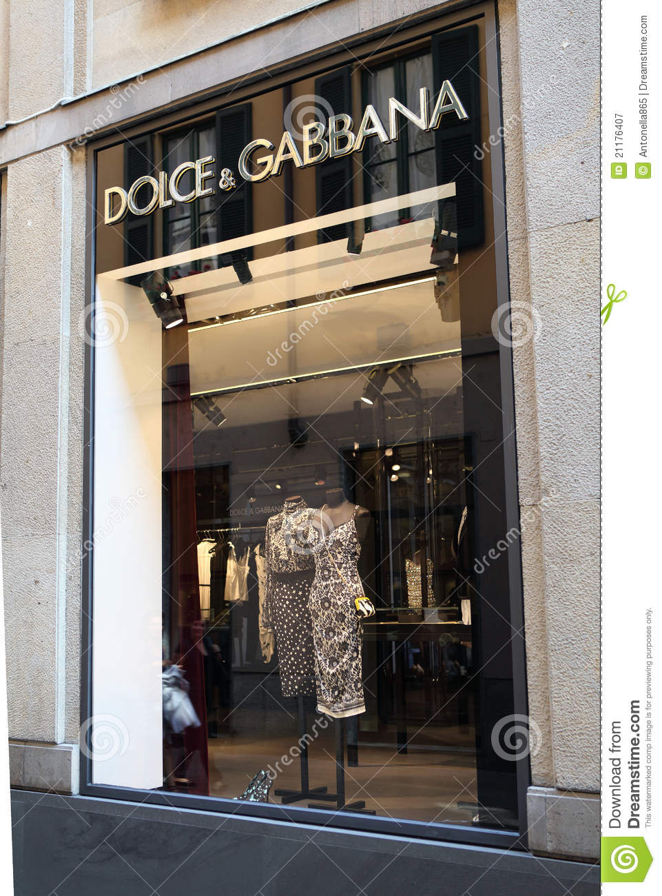 Dolce   Gabbana store editorial photography. Image of luxury - 21176407 21bd2f9f6d309