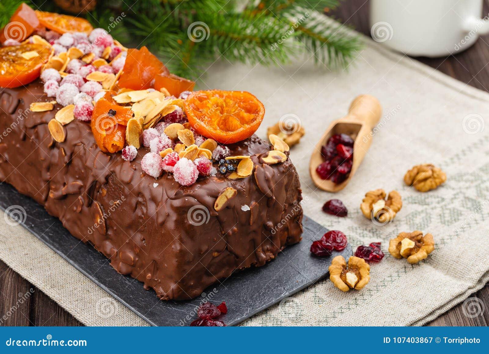 Dolce Tradizionale Della Frutta Di Natale Cucina Inglese Festiva ...