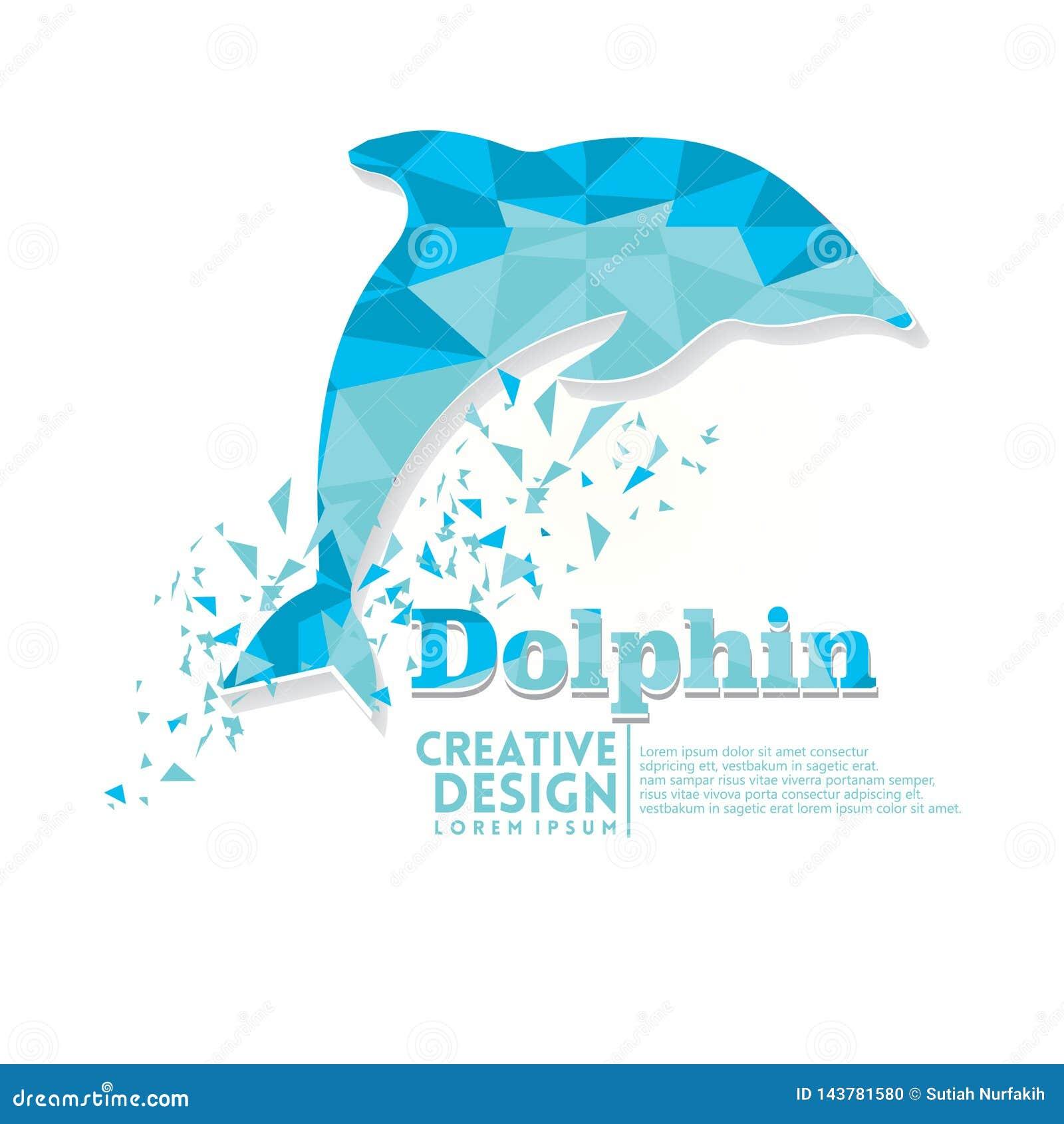 Dolfijn Geometrische document ambachtstijl