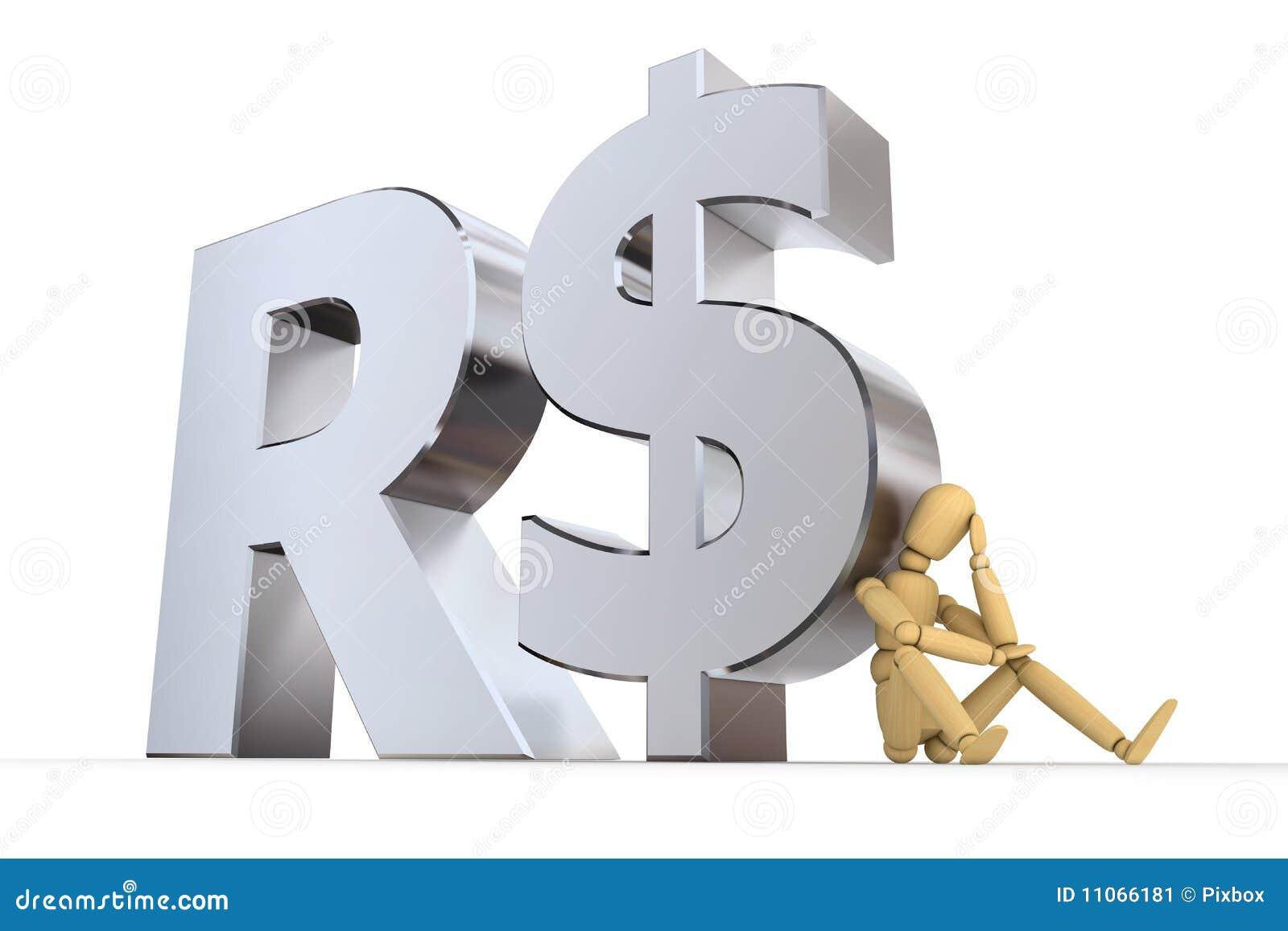 Doll at brazilian real symbol stock illustration illustration of royalty free stock photo buycottarizona Images