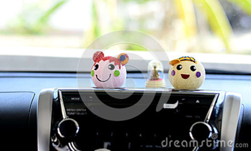 Doll car of smile